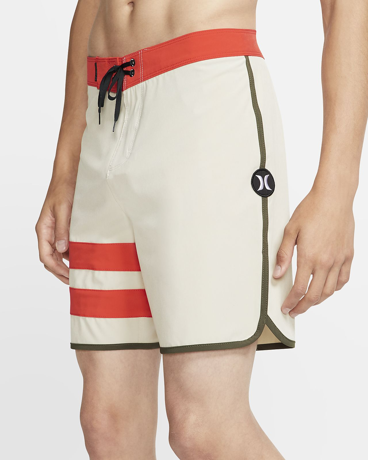 Shorts de playa de 46 cm para hombre Hurley Phantom Block Party Solid