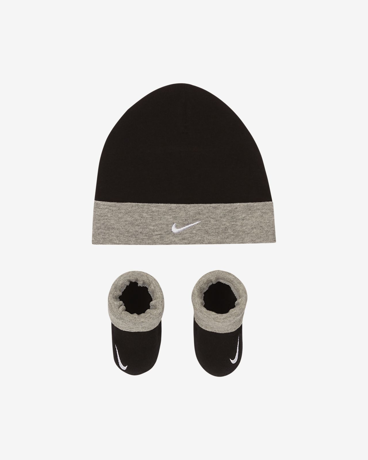 Nike Baby (0-6M) Hat and Booties Box Set