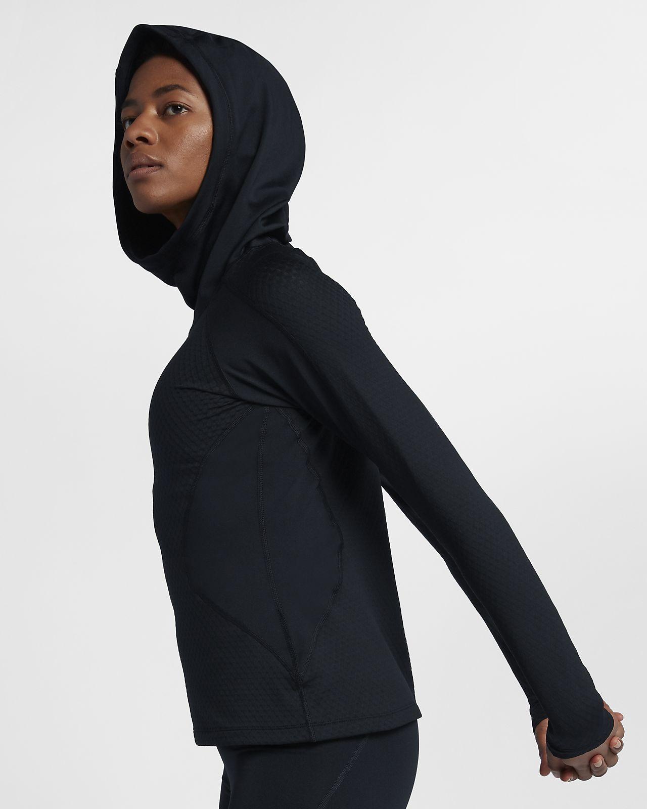 Nike Pro HyperWarm Trainings-Hoodie mit Kapuze für Damen