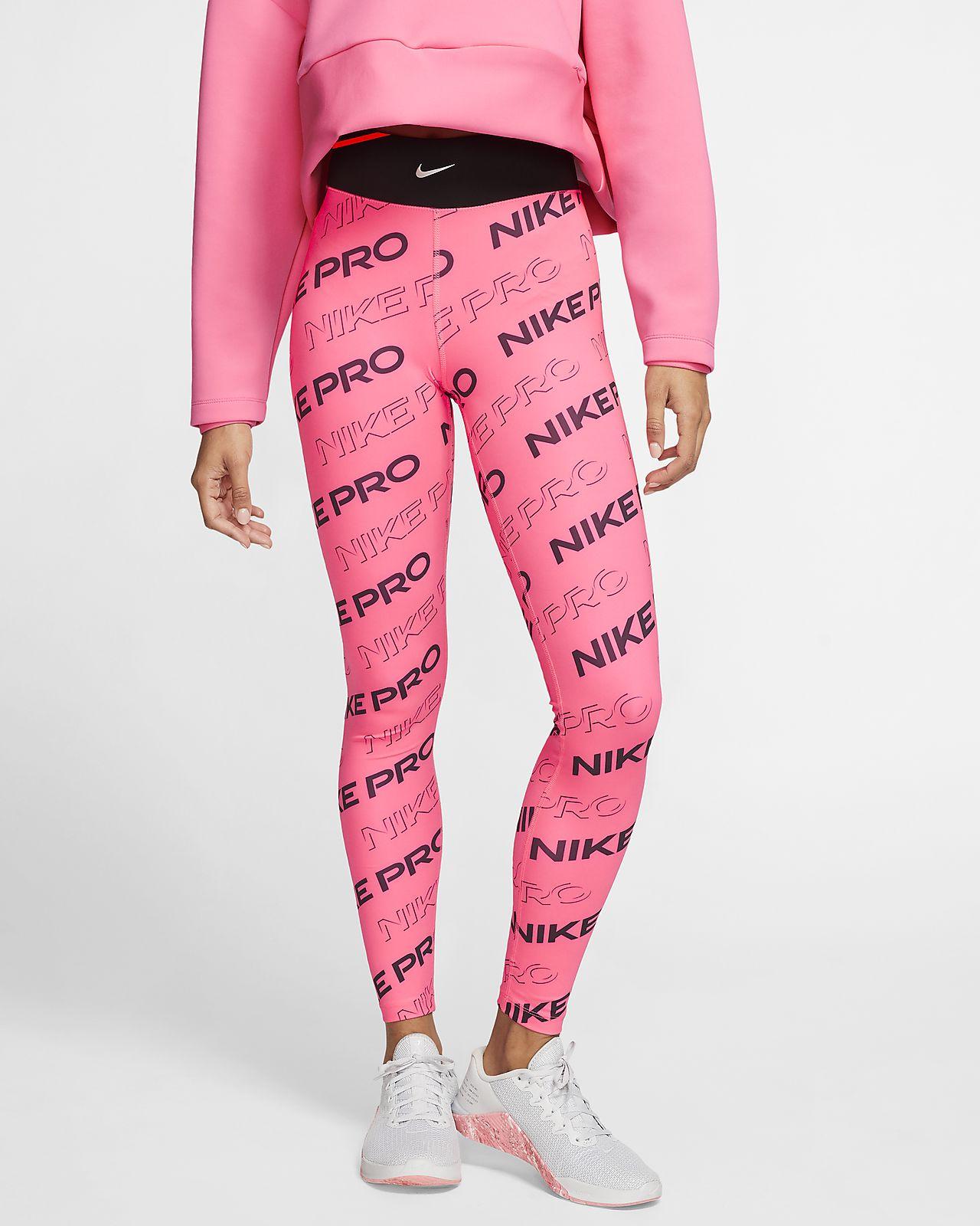 Nike Pro-tights med print til kvinder