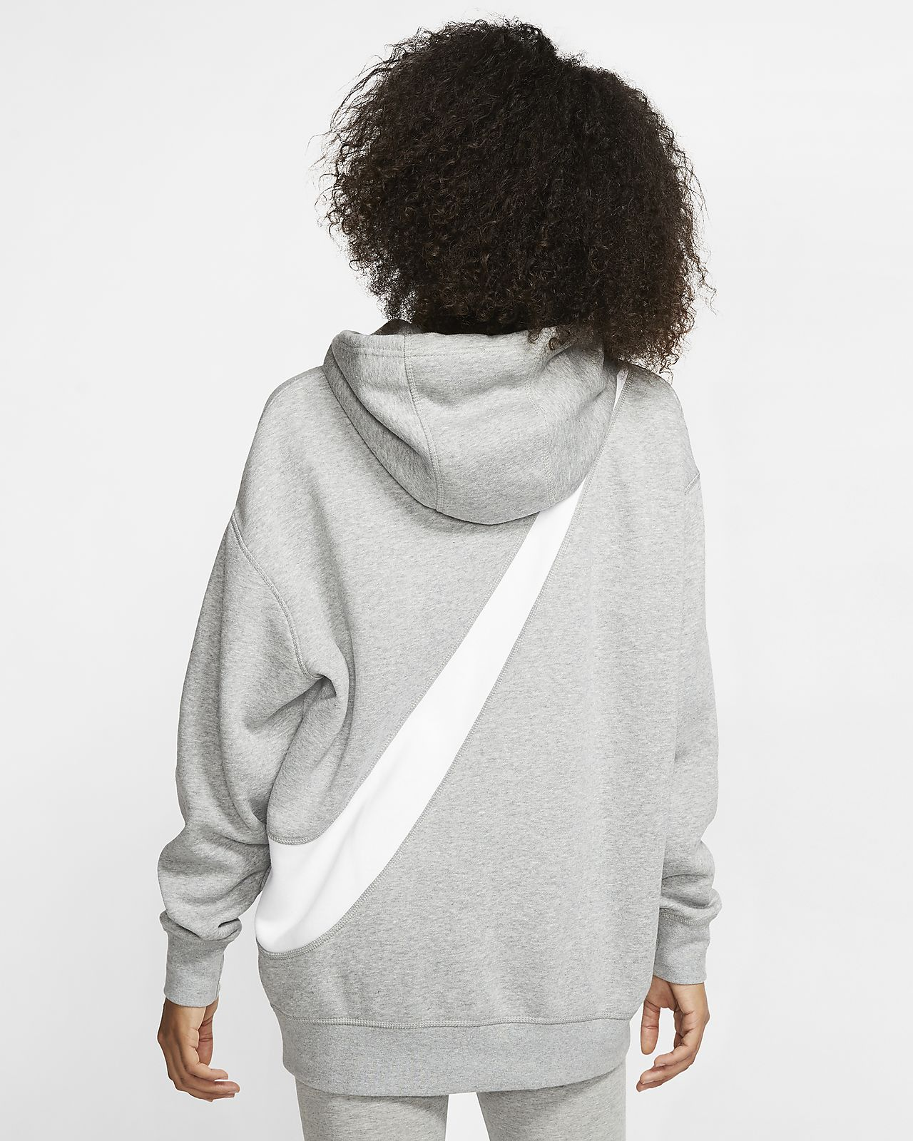 Damska bluza z kapturem i logo Swoosh Nike Sportswear