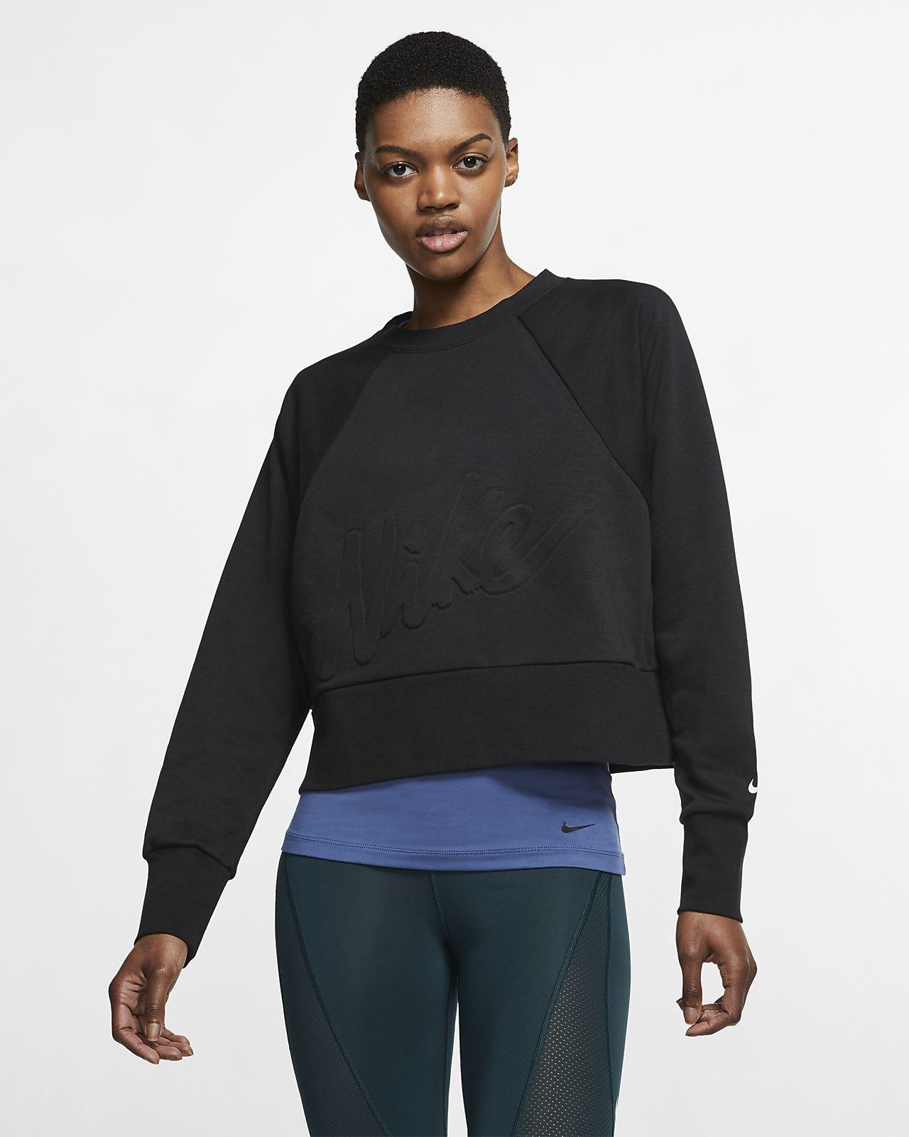 Nike Dri FIT Get Fit Fleece Trainings Hoodie mit