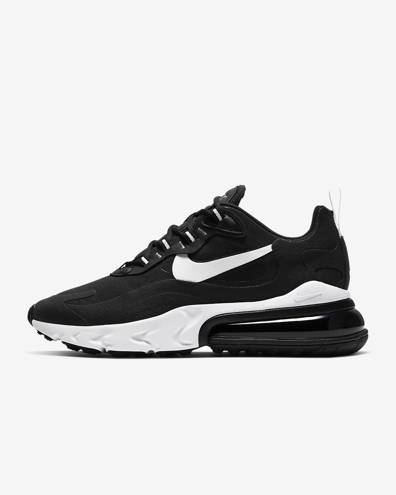 air max 270 react grey and black