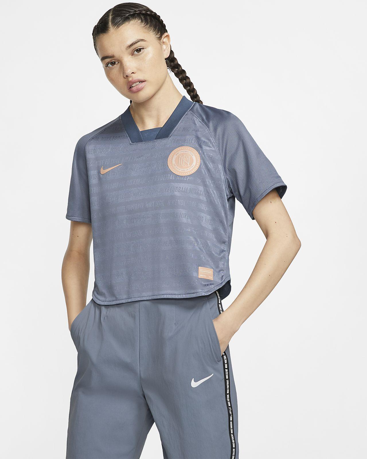 Prenda para la parte superior de fútbol de manga corta para mujer Nike F.C. Dri-FIT
