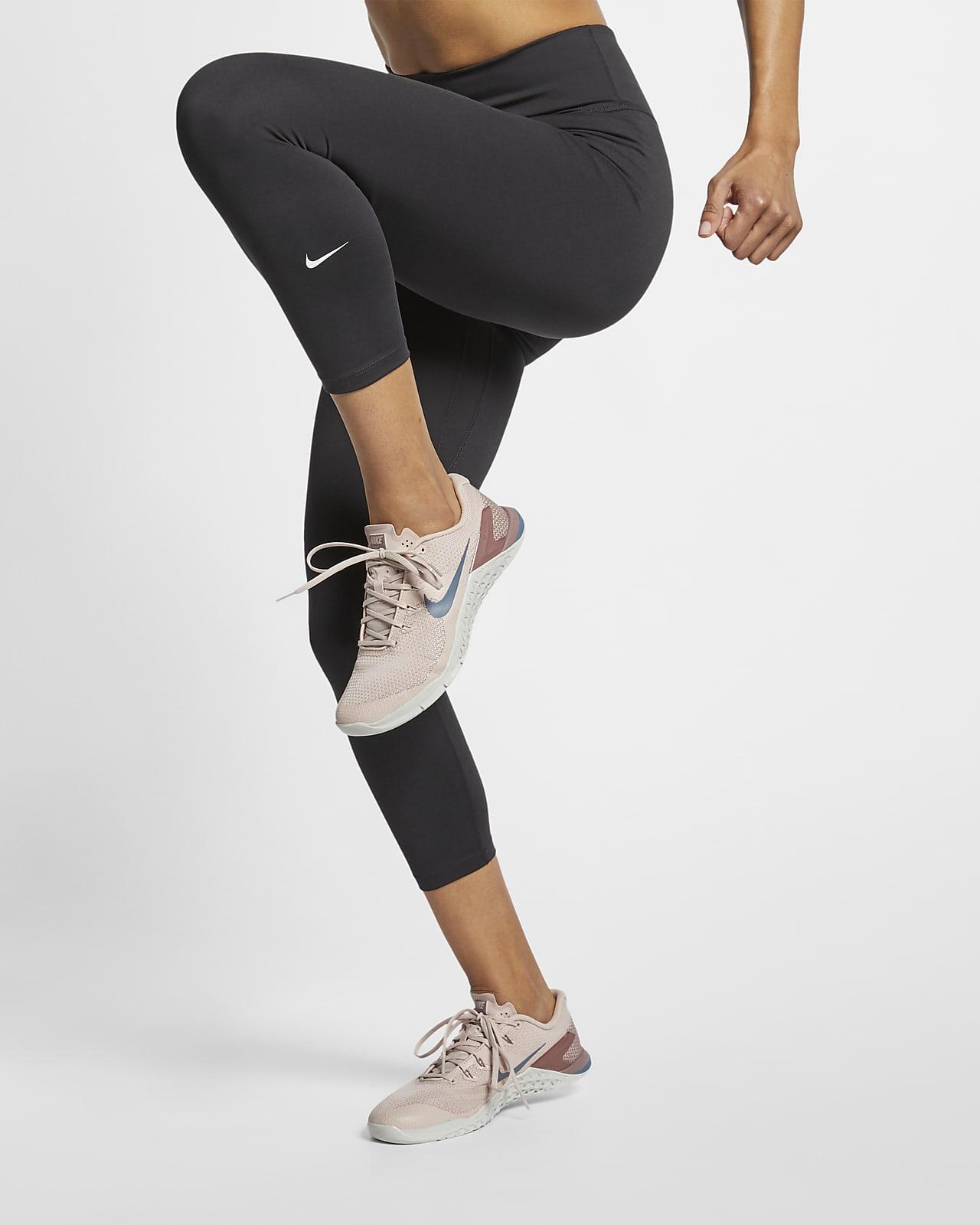 Женские укороченные леггинсы со средней посадкой Nike One