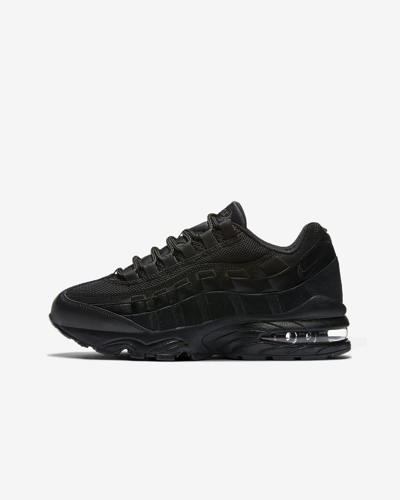 Nike Air Max 95 leather trainers in triple black