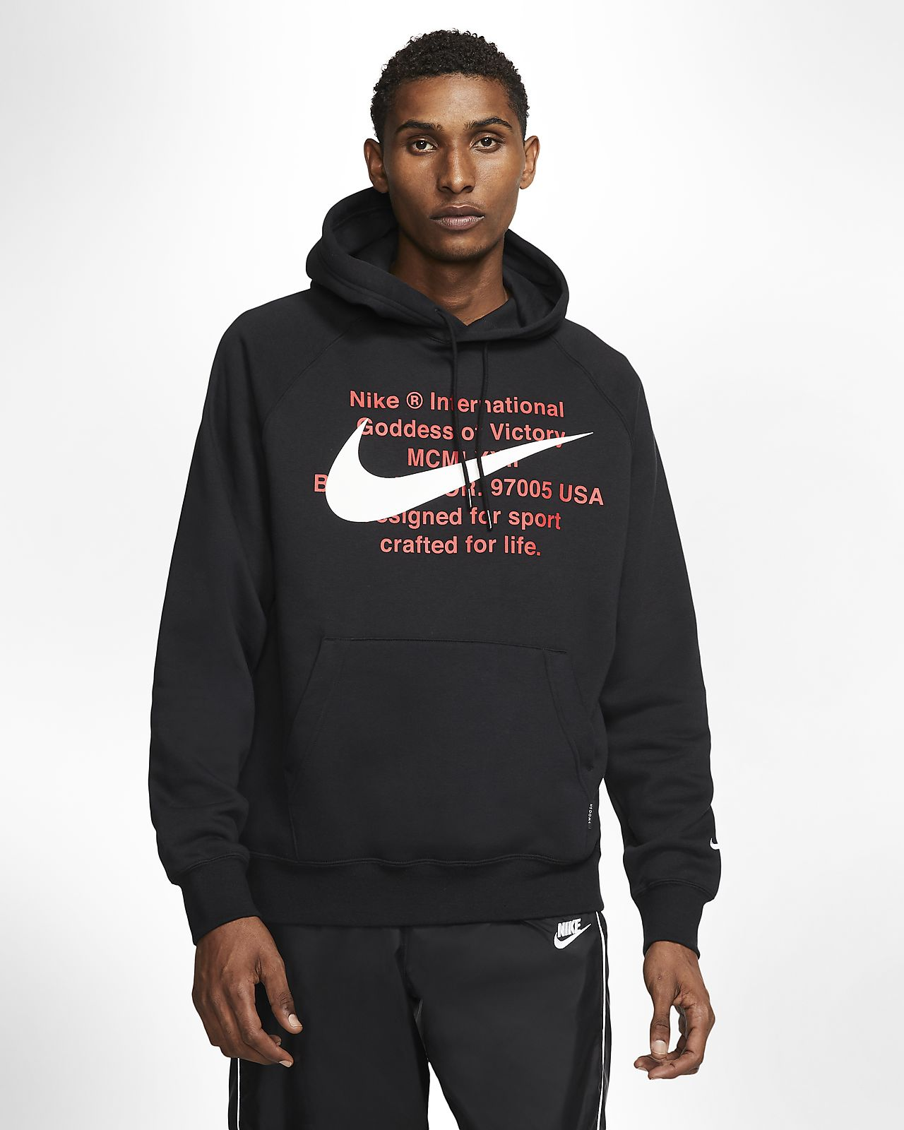 nike hoodie with swoosh all over