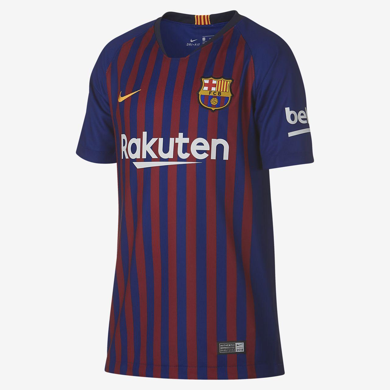 Fotbollströja 2018/19 FC Barcelona Stadium Home för ungdom