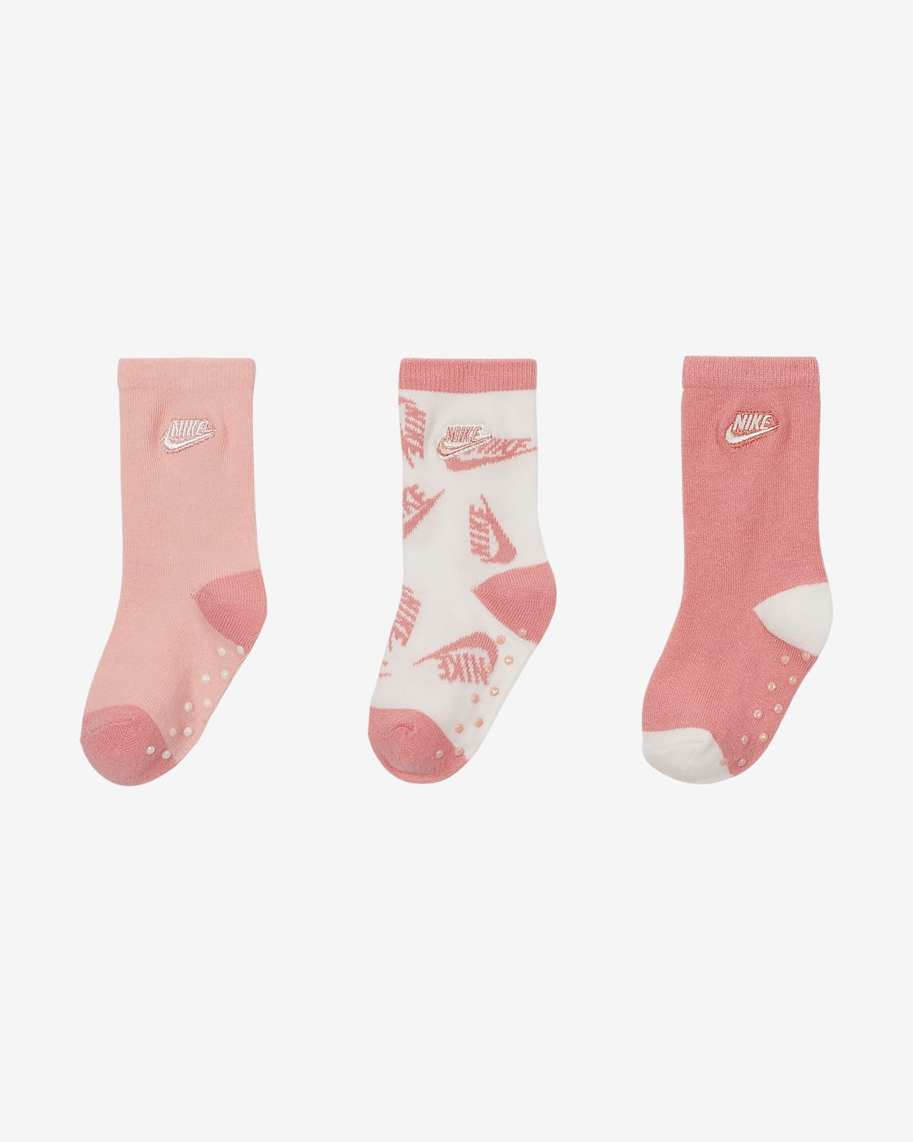 STAY ON Baby Socks 3 Pairs from Little Grippers Grey