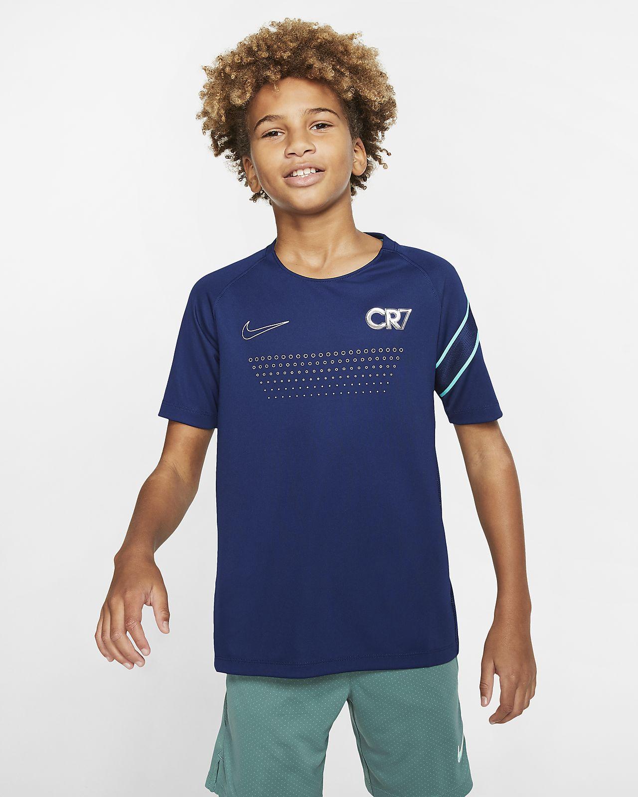 Haut de football à manches courtes Nike Dri FIT CR7 pour Enfant plus âgé