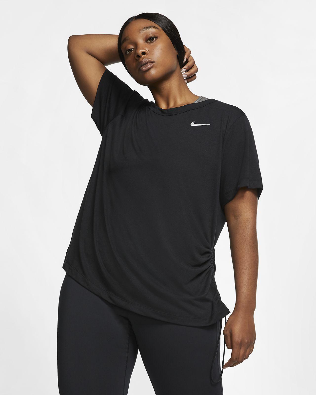 Prenda para la parte superior de running de manga corta para mujer Nike Miler (talla grande)