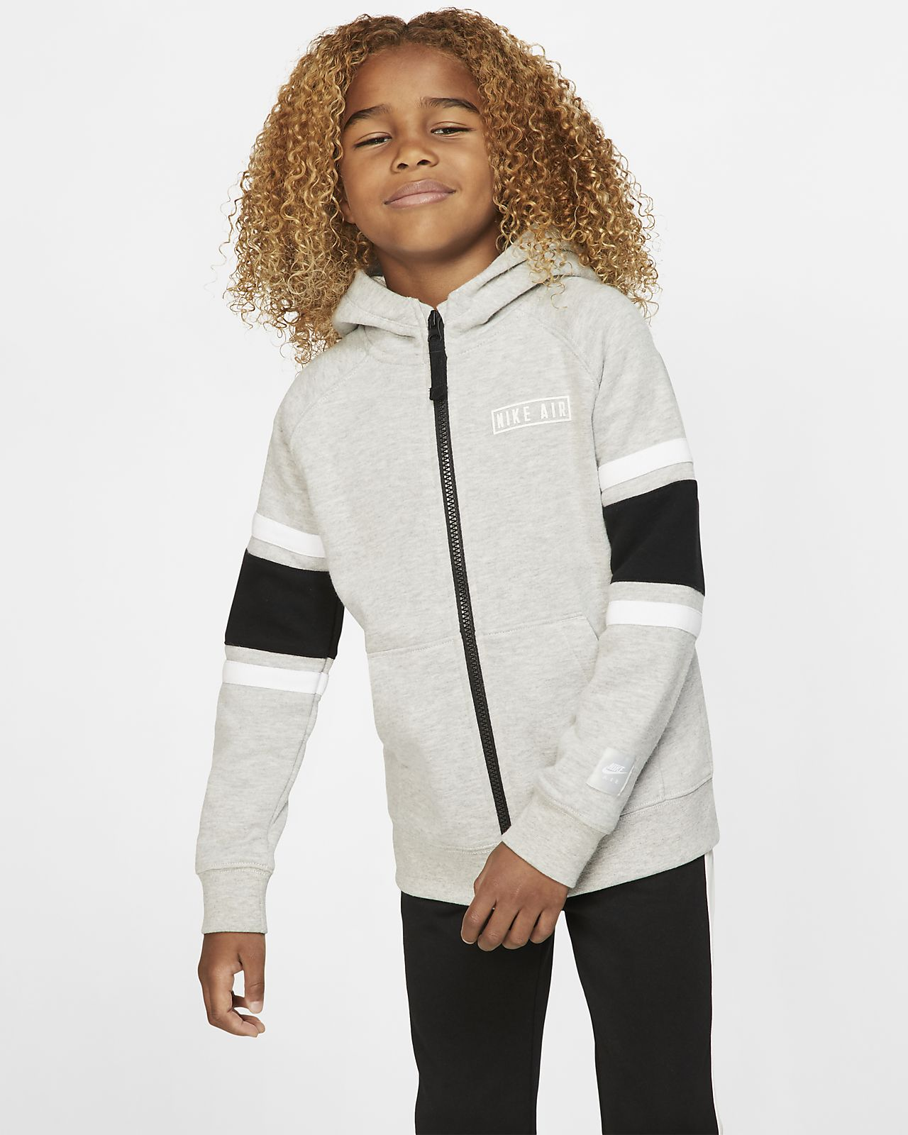 Nike Air fleecehættetrøje med lynlås til små børn. Nike DK