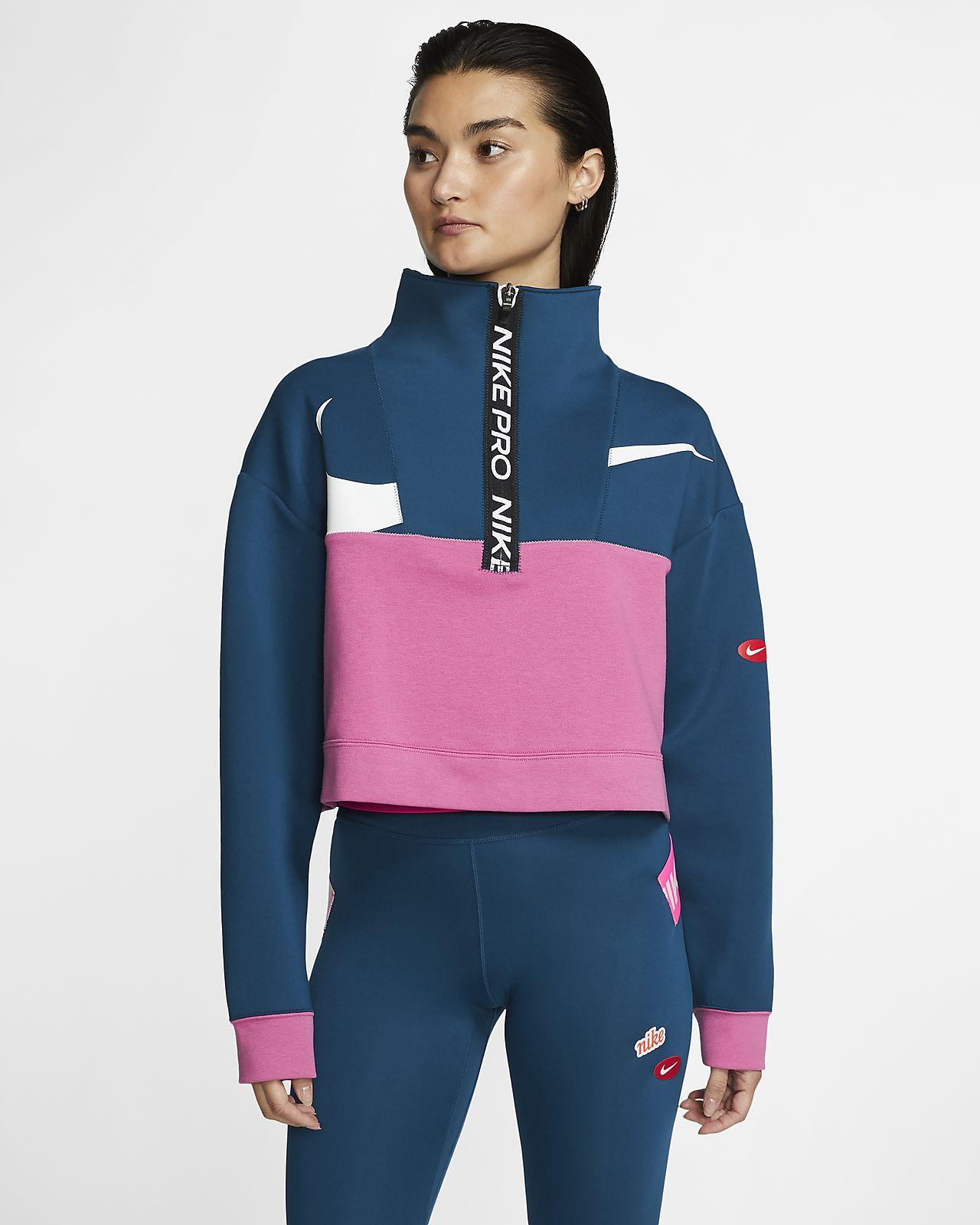 Nike Pro Get Fit Icon Clash Women's Fleece 1/2-Zip Jacket