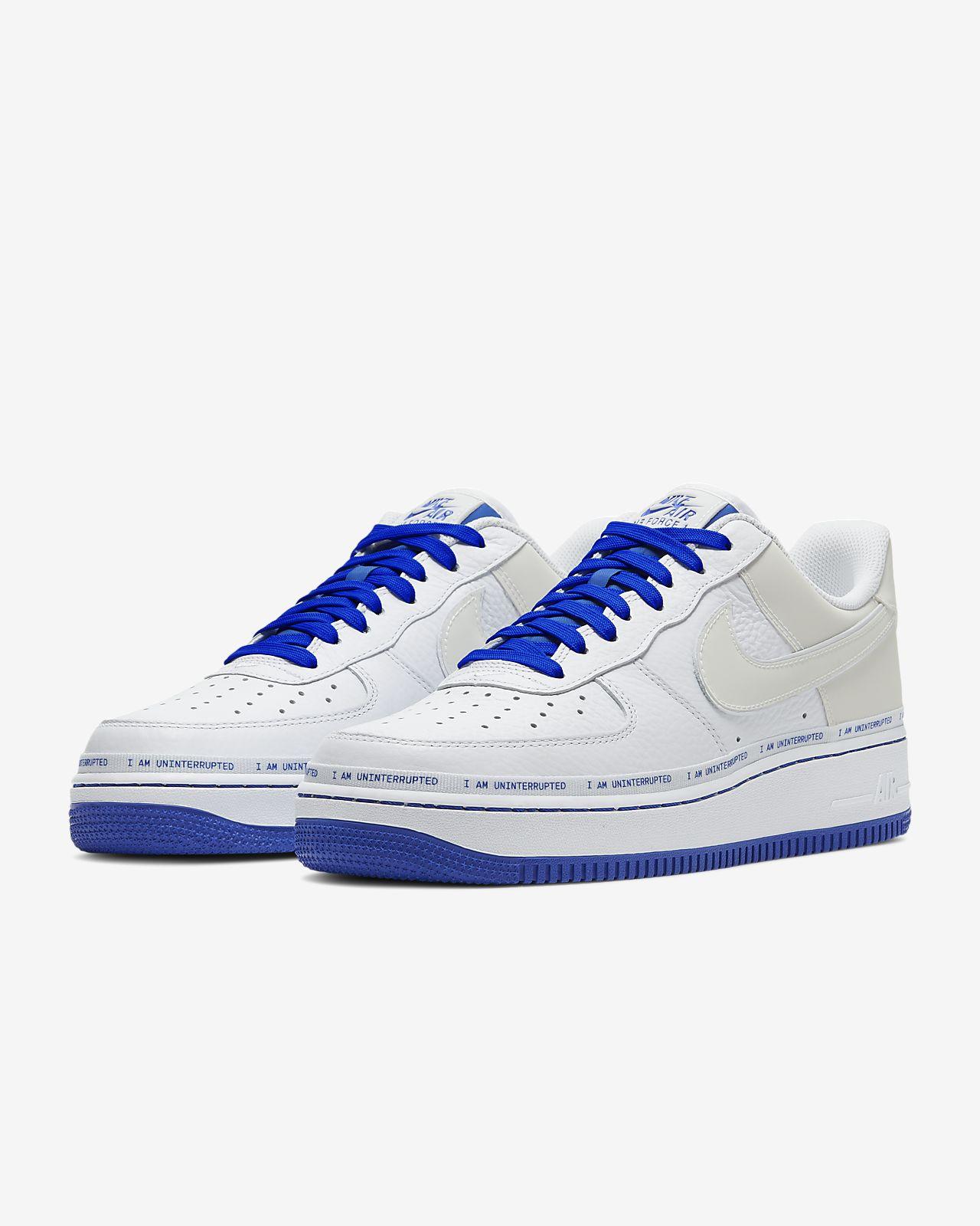 nike air force 1 blue white
