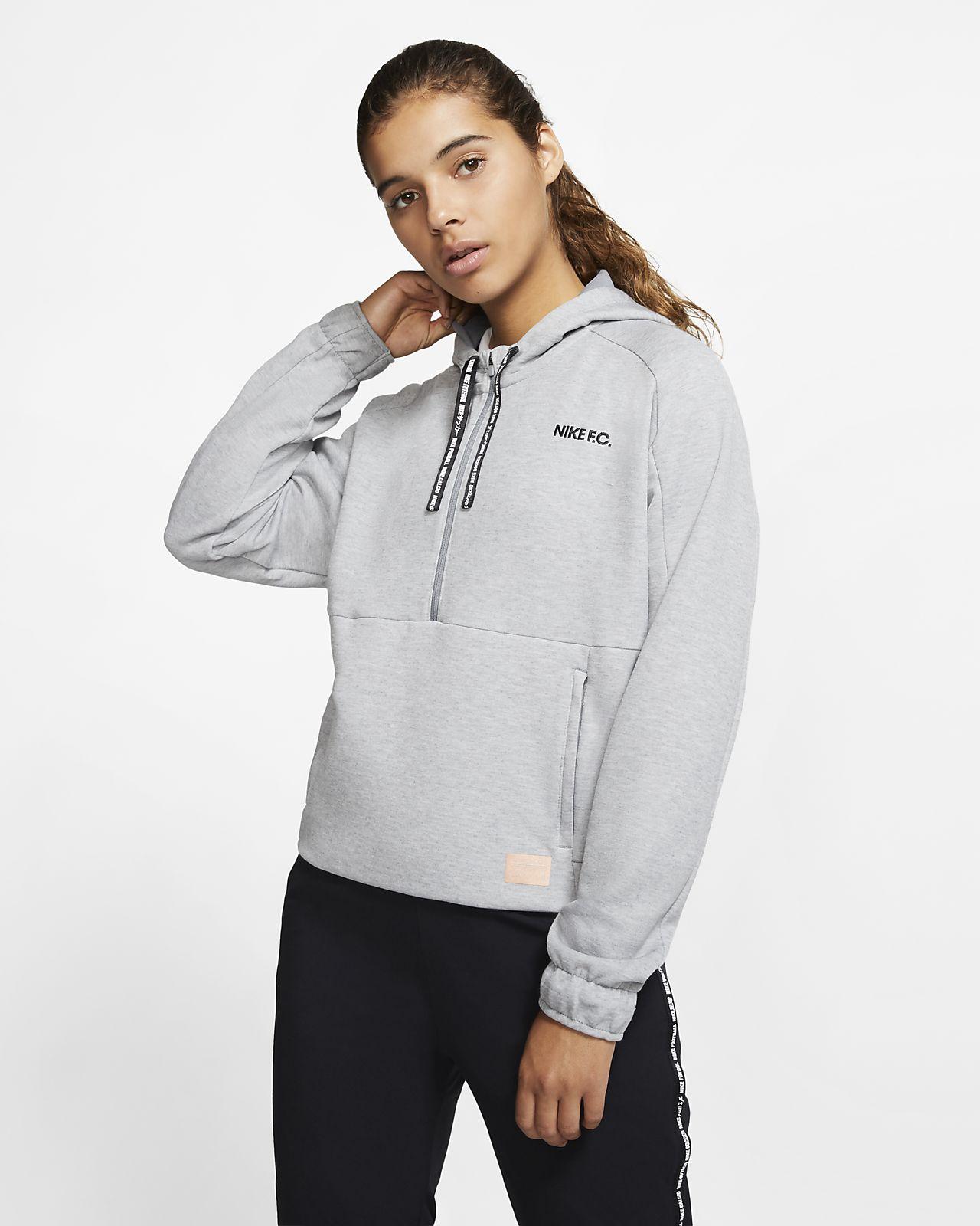 Женская футбольная худи с молнией на половину длины Nike F.C. Dri-FIT