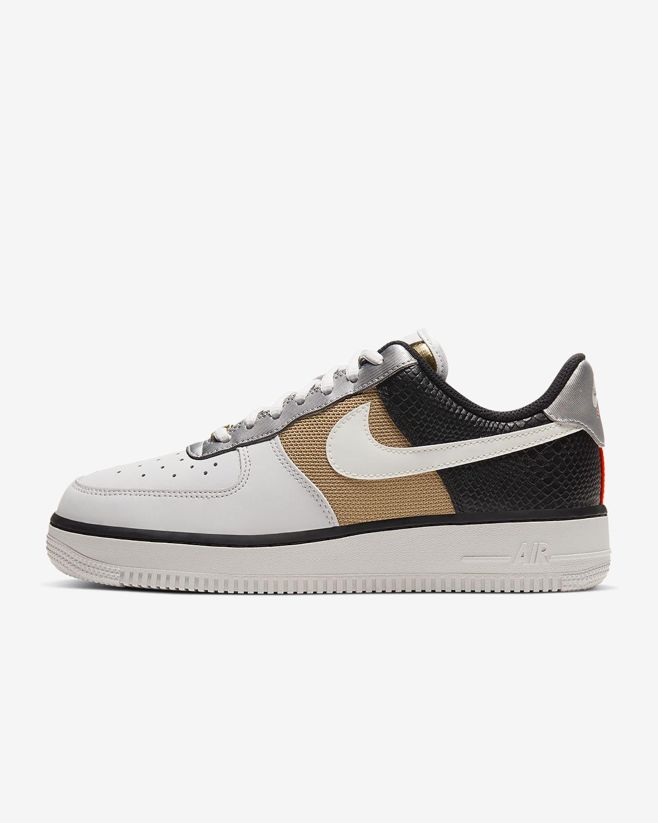 Dame Nike Air Force 1 Flyknit Hvid Guld Sko
