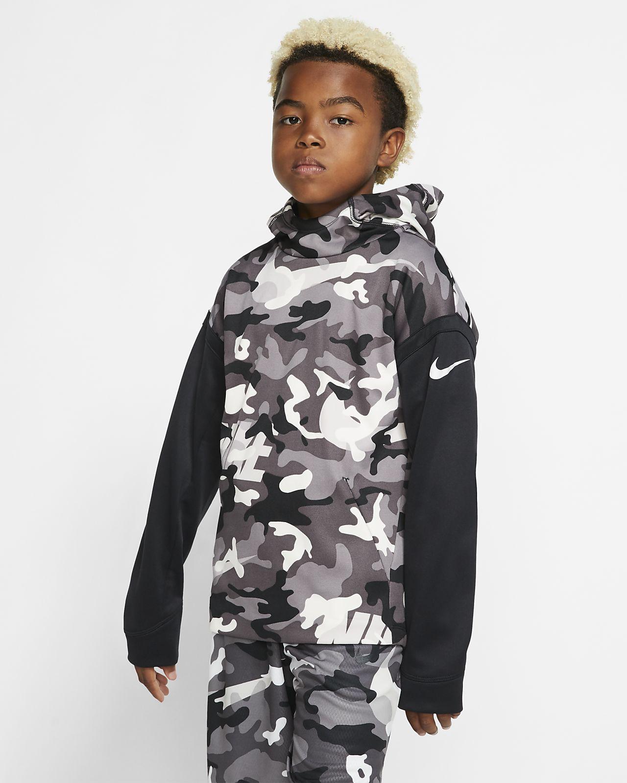 Nike Therma Big Kids' (Boys') Camo Training Pullover Hoodie