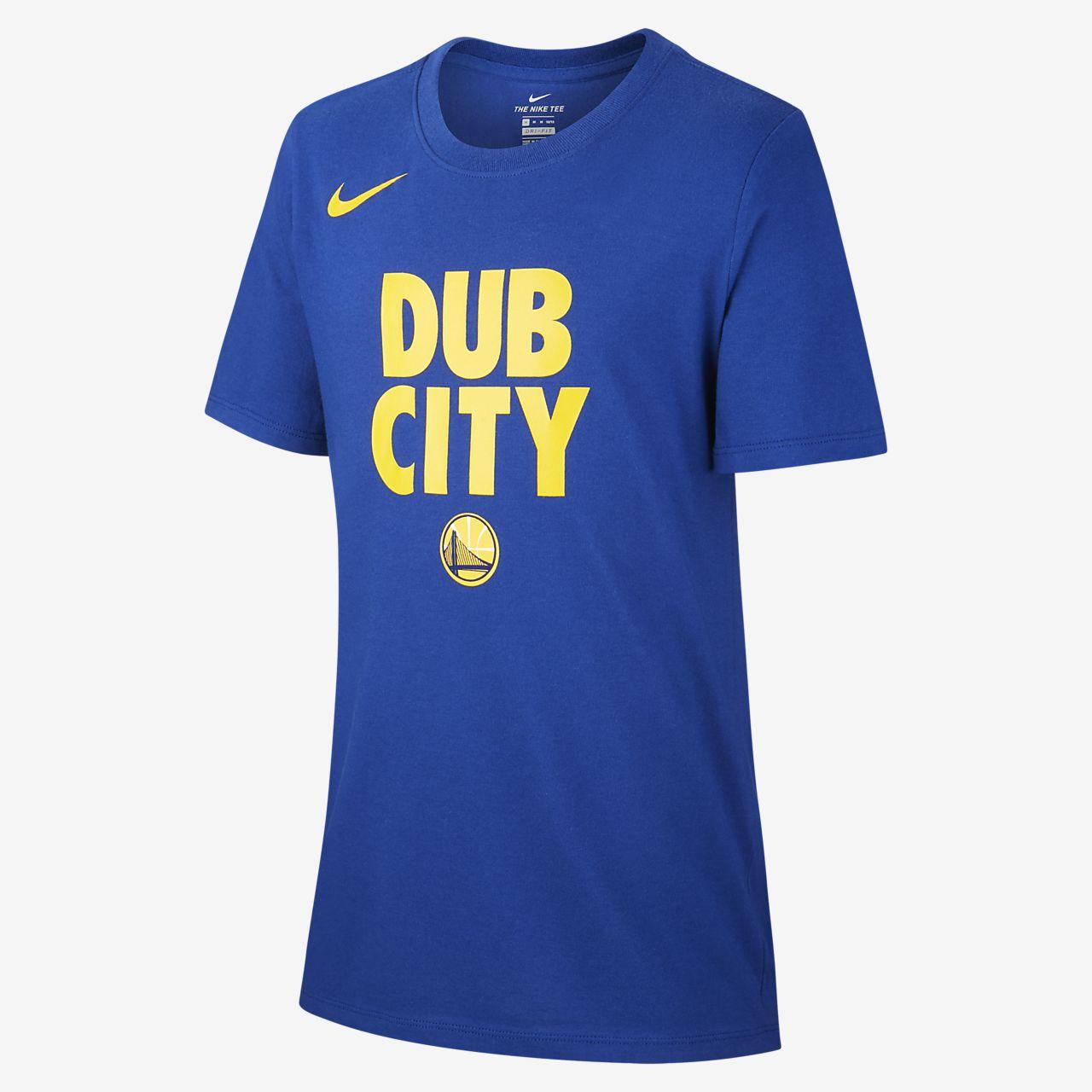 Tee-shirt NBA Golden State Warriors Nike Dri-FIT pour Garçon
