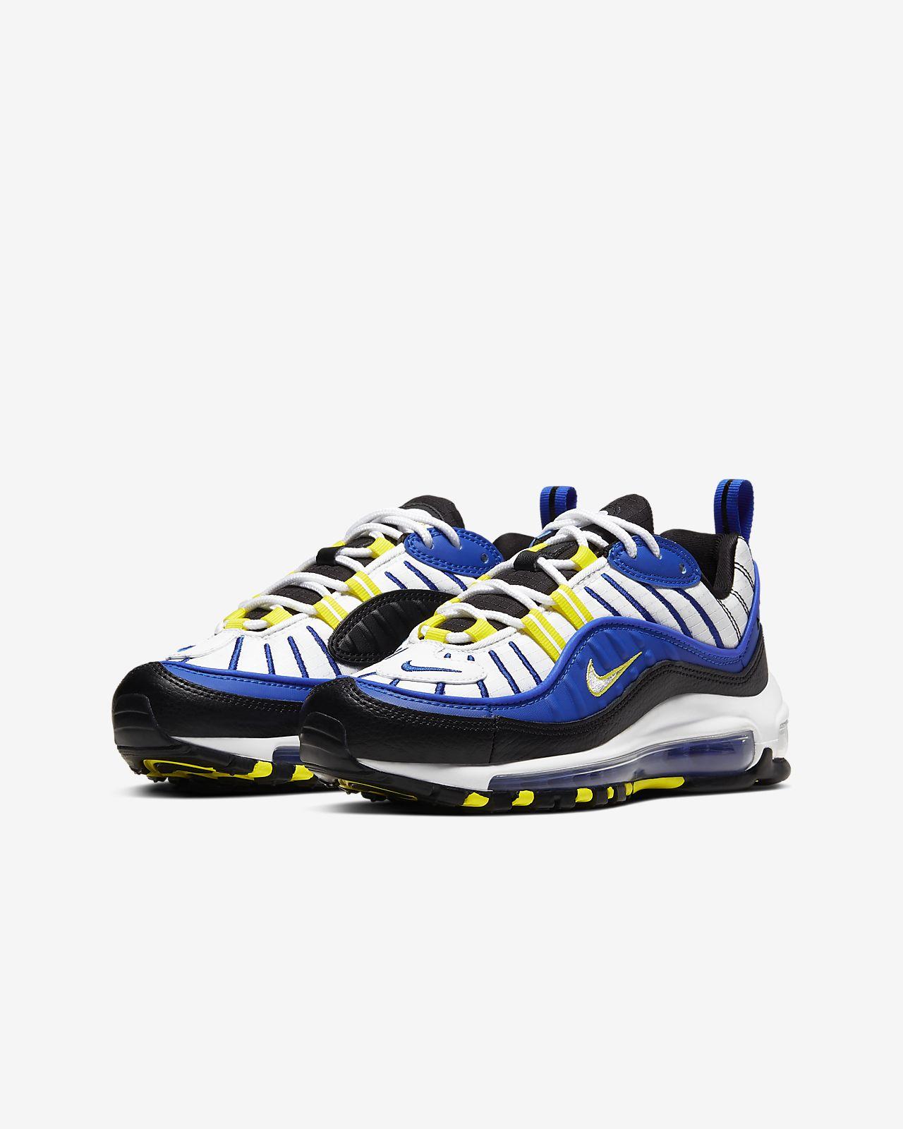 air max 98 racer blue yellow