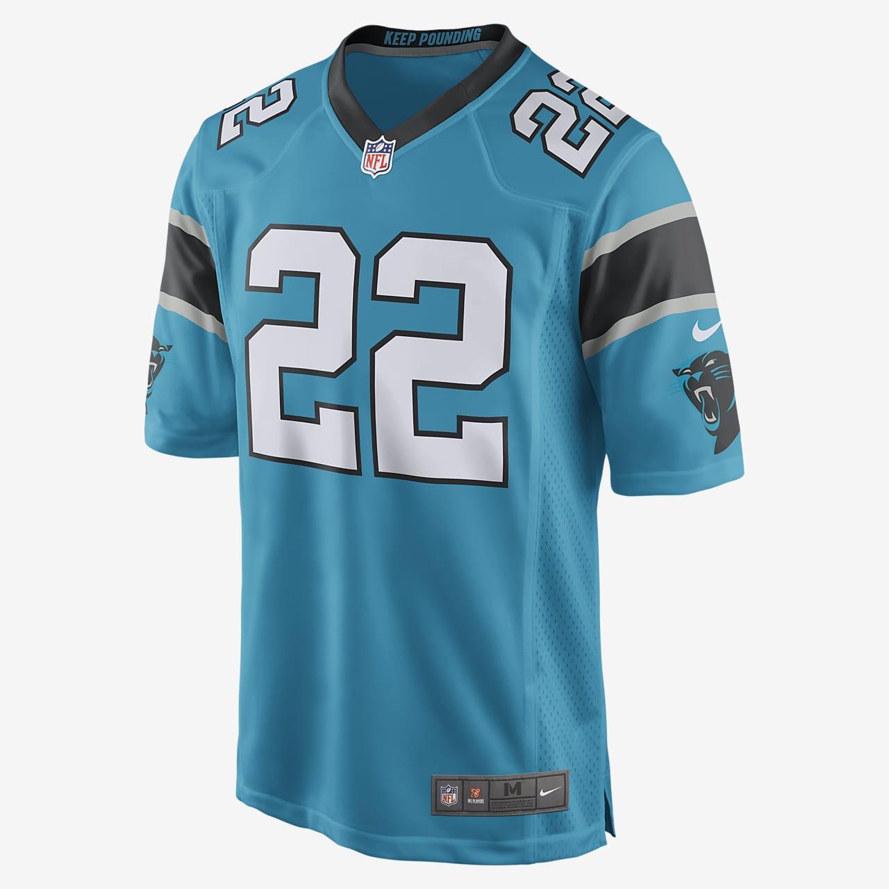 NFL Carolina Panthers Game Jersey (Christian McCaffrey) Men's Football Jersey
