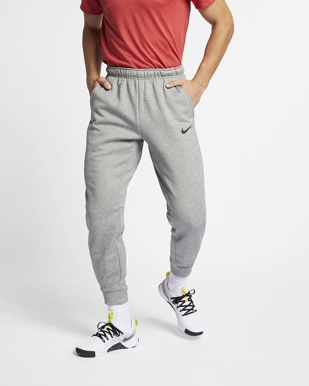 Pánské zúžené tréninkové tepláky Nike Therma