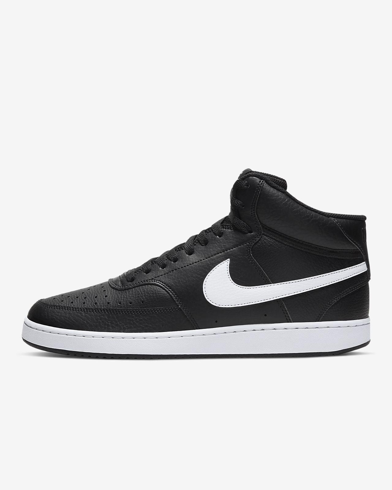 Große Größe Damen Schuhe weiß schwarz Nike Sneaker Court
