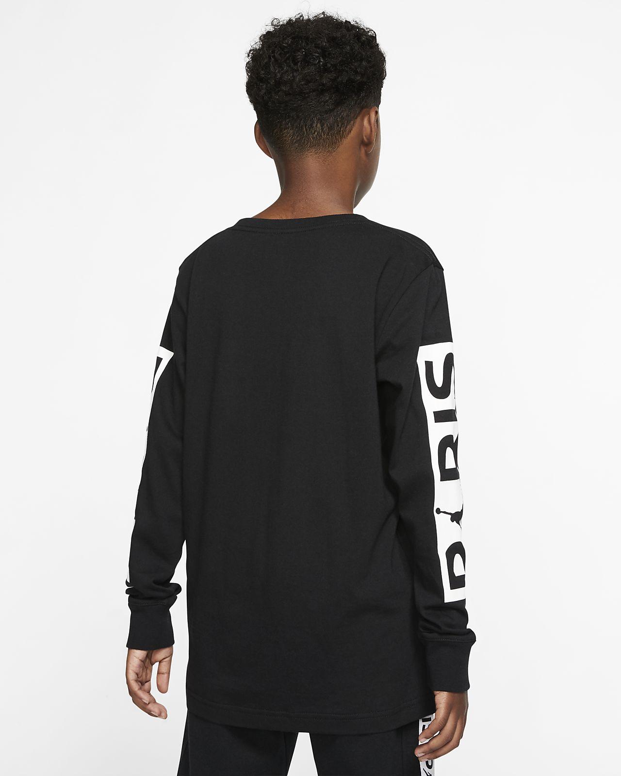 t-shirt manche longue nike garcon