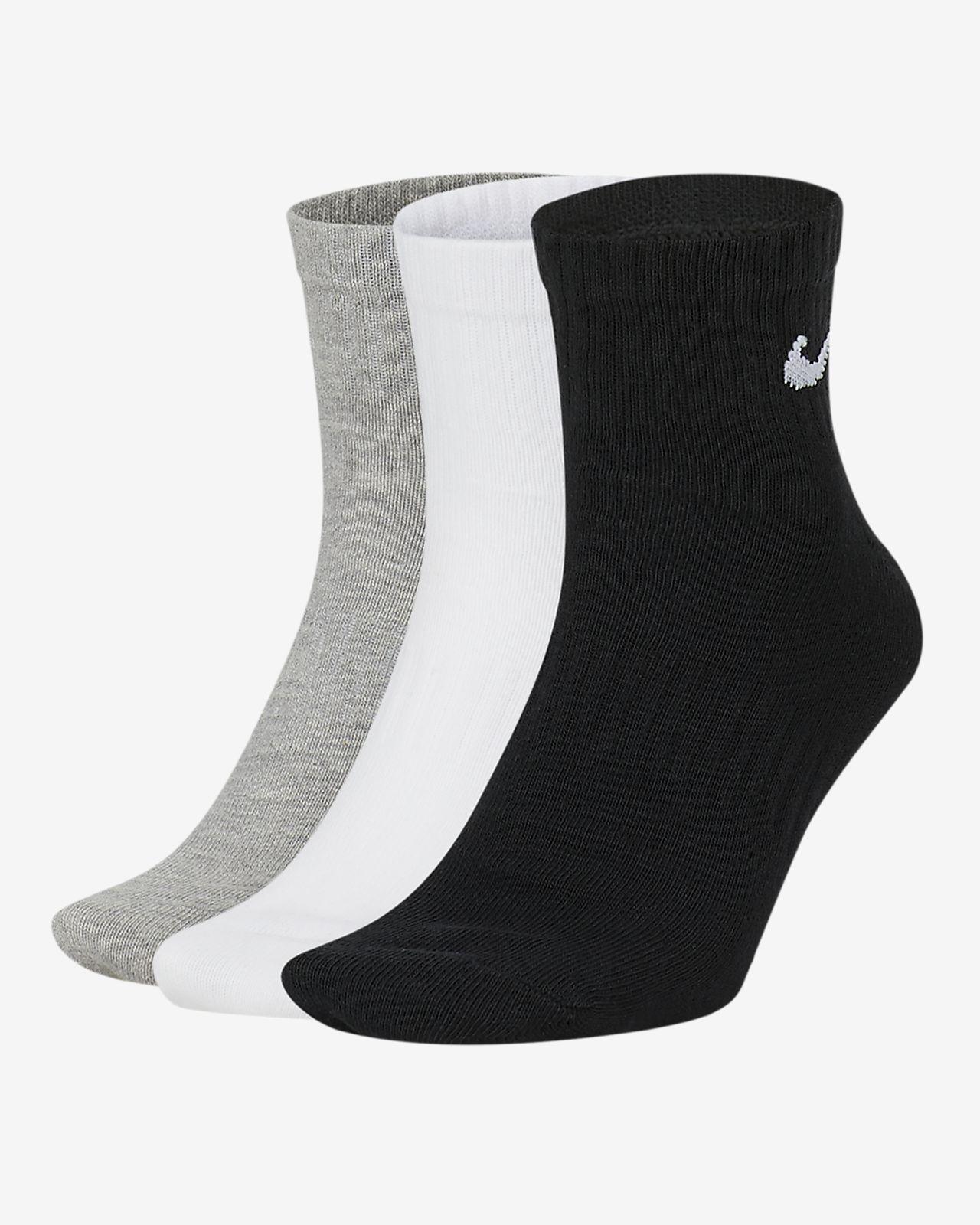 Nike Everyday Lightweight Calcetines de entrenamiento hasta el tobillo (3 pares)