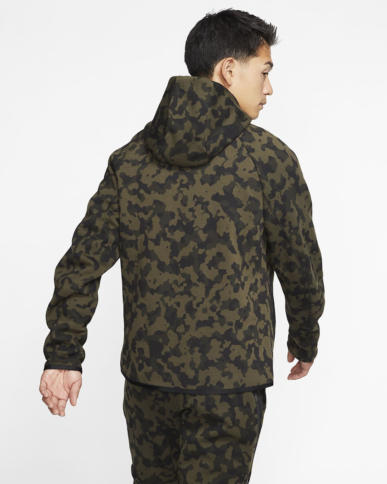 Shop Nike Jordan Jumpman Full Zip Hoodie Olive CanvasWhite