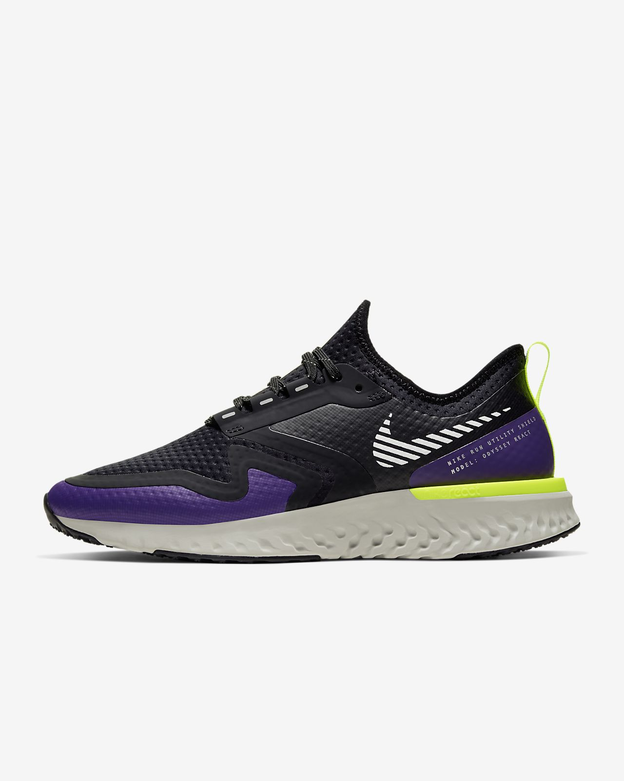 Nike Epic React Shield Shoes Black White