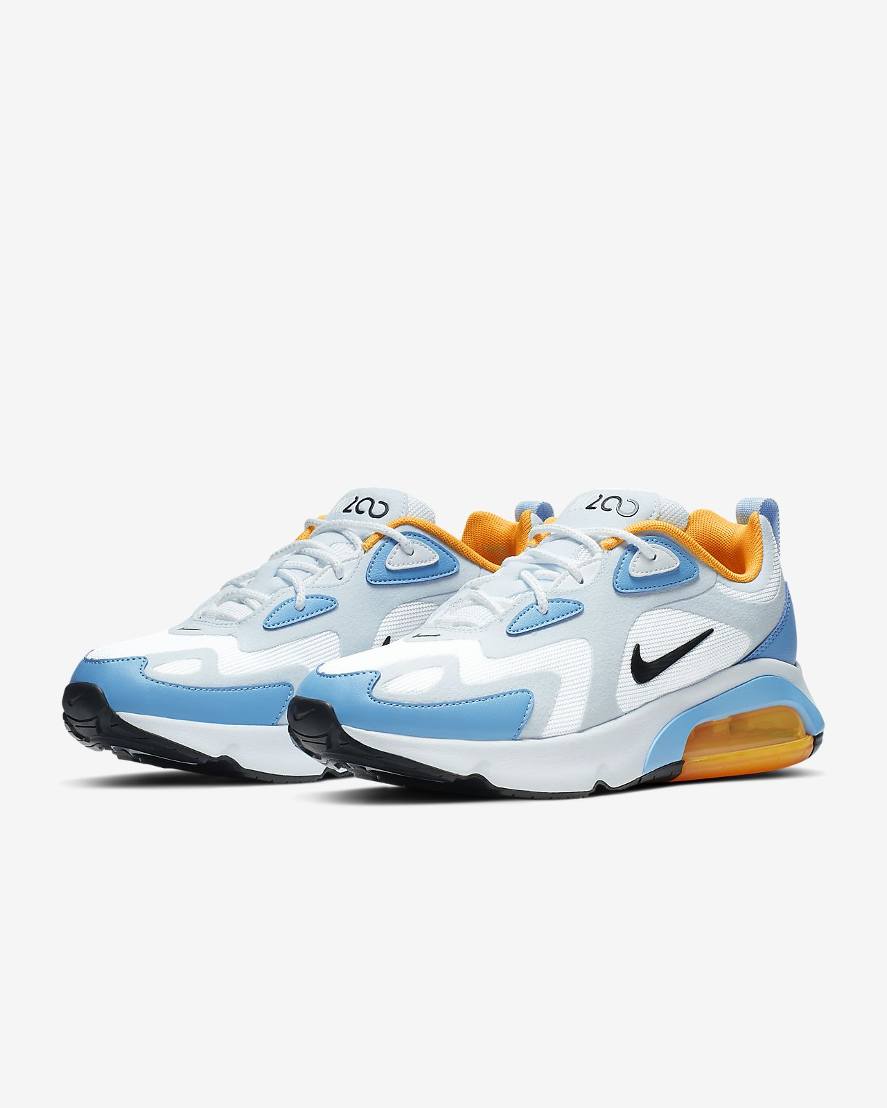 air max 200 blue and orange