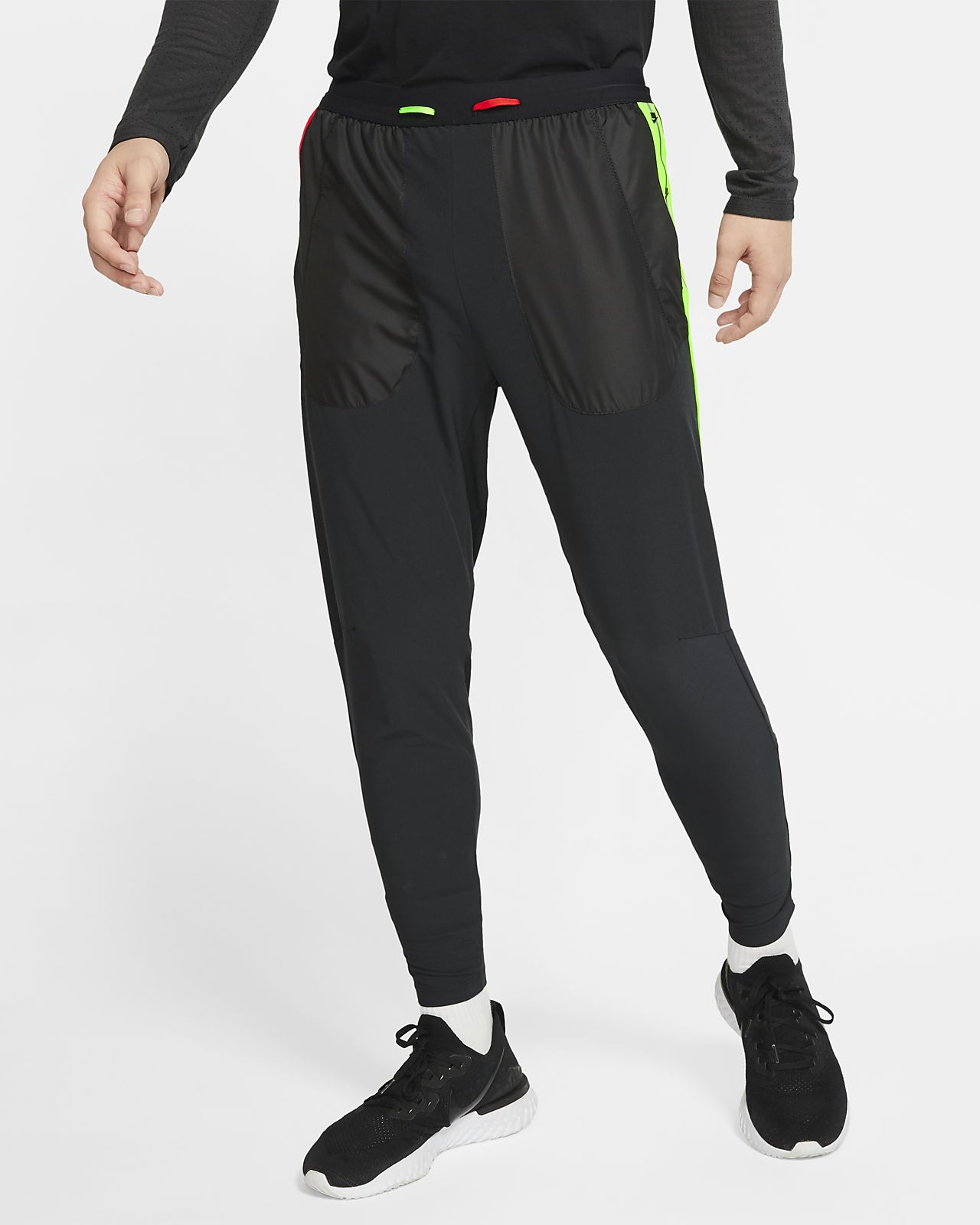 Nike Phenom Men/'s Running Pants L Gray Gym Training Flex New