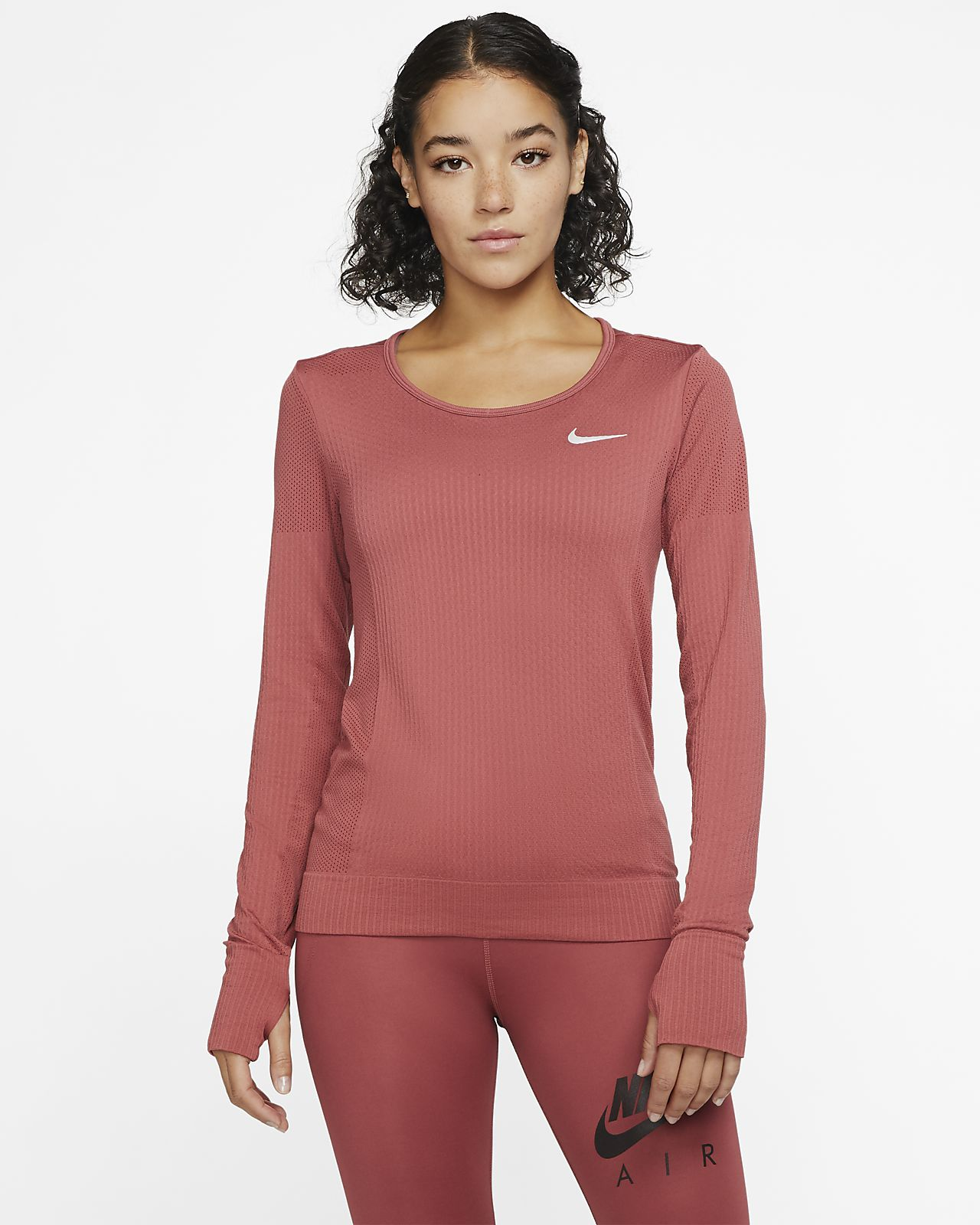 Langærmet Nike Infinite løbetop til kvinder