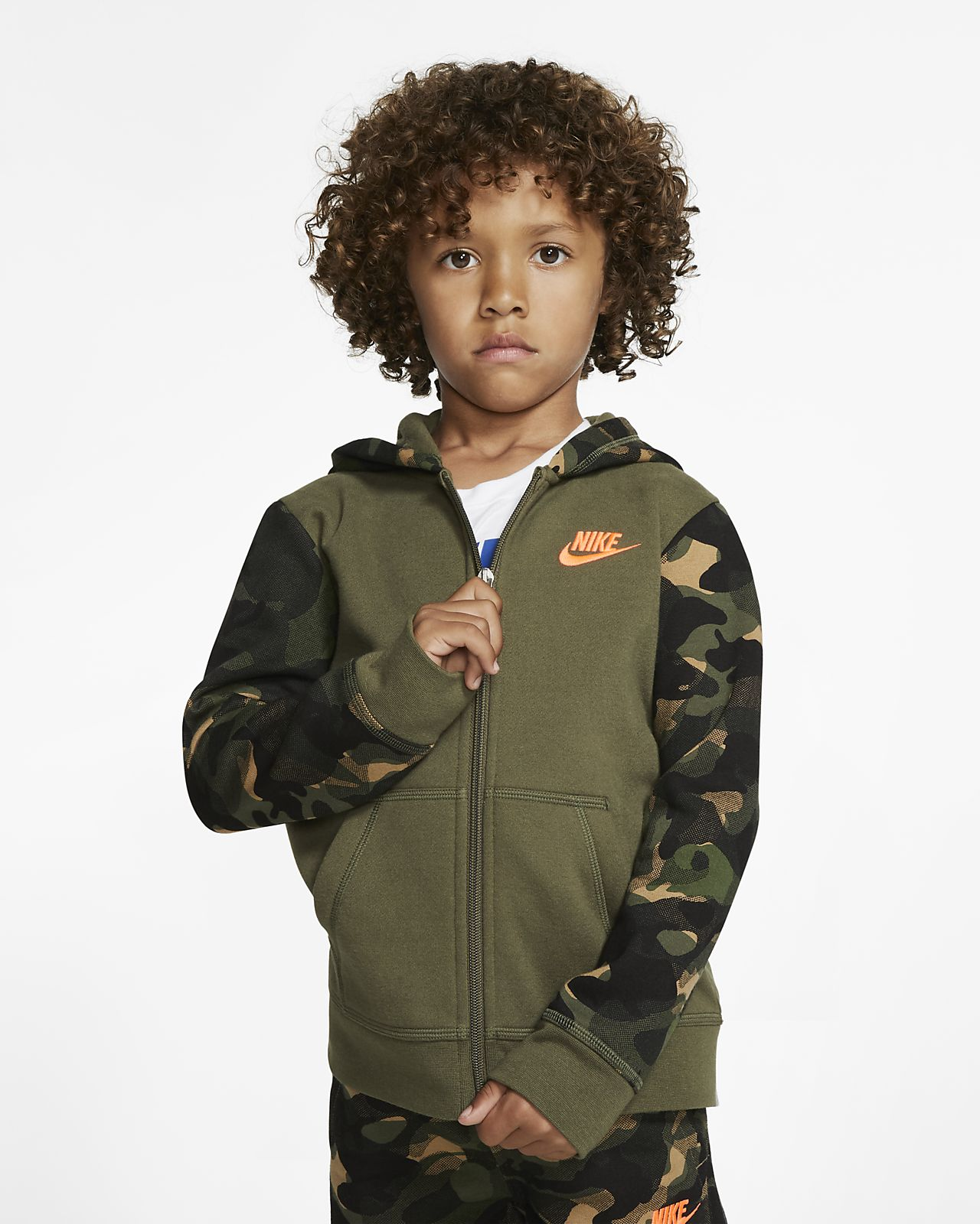 Nike Sportswear Club Fleece Little Kids' Full-Zip Hoodie