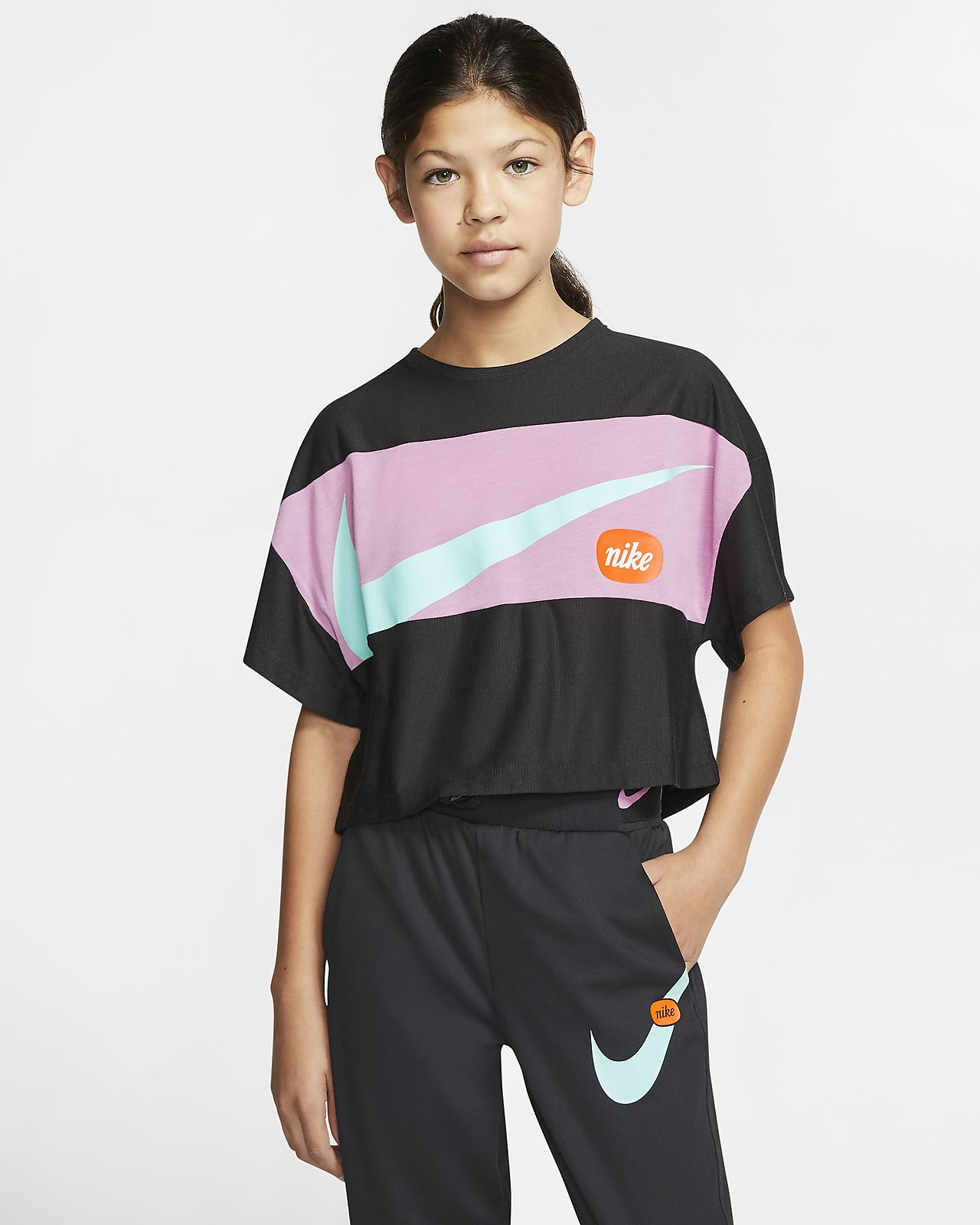 Nike Trainingstop met korte mouwen voor meisjes