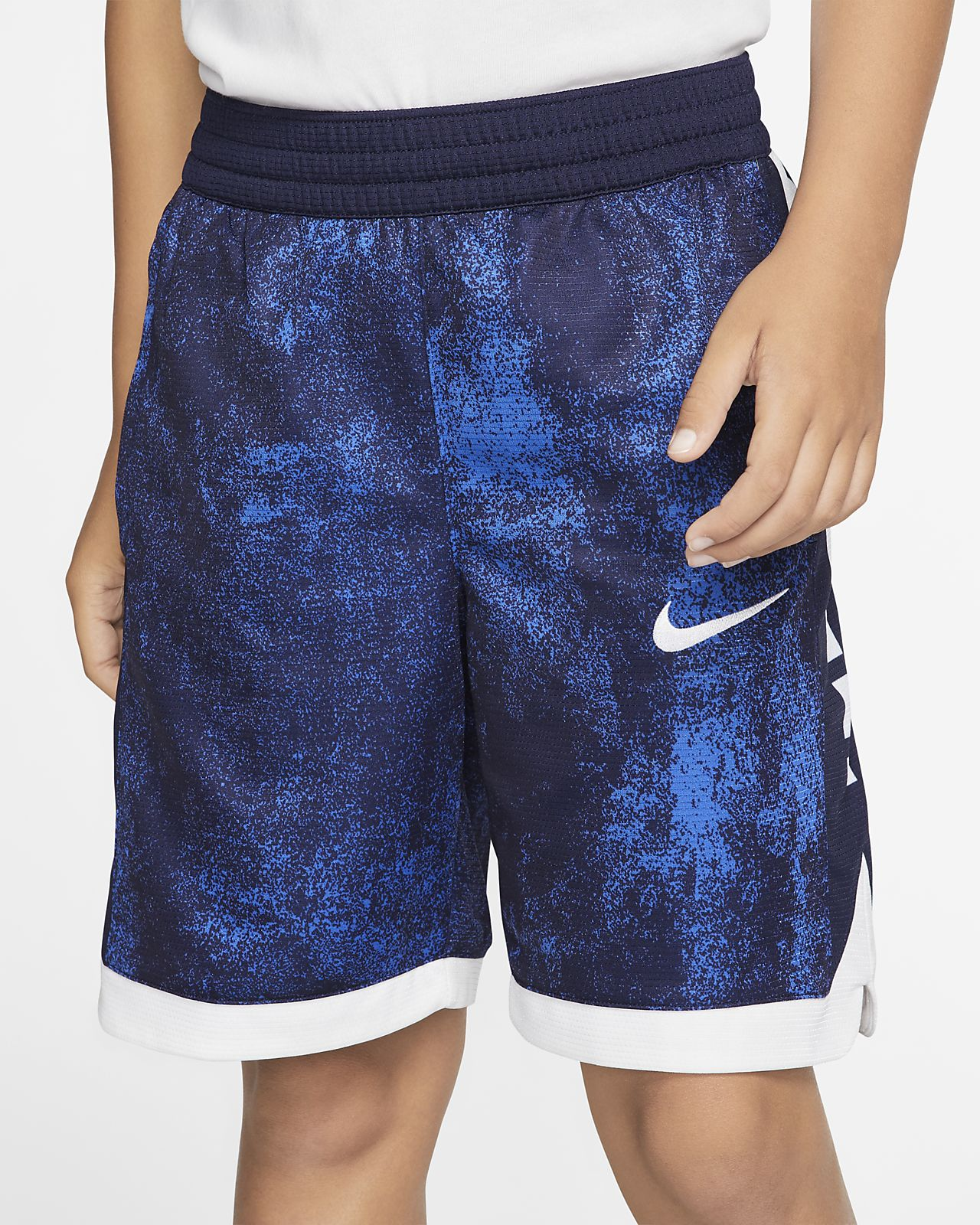 Nike Dri-FIT Elite 大童 (男童) 印花籃球短褲