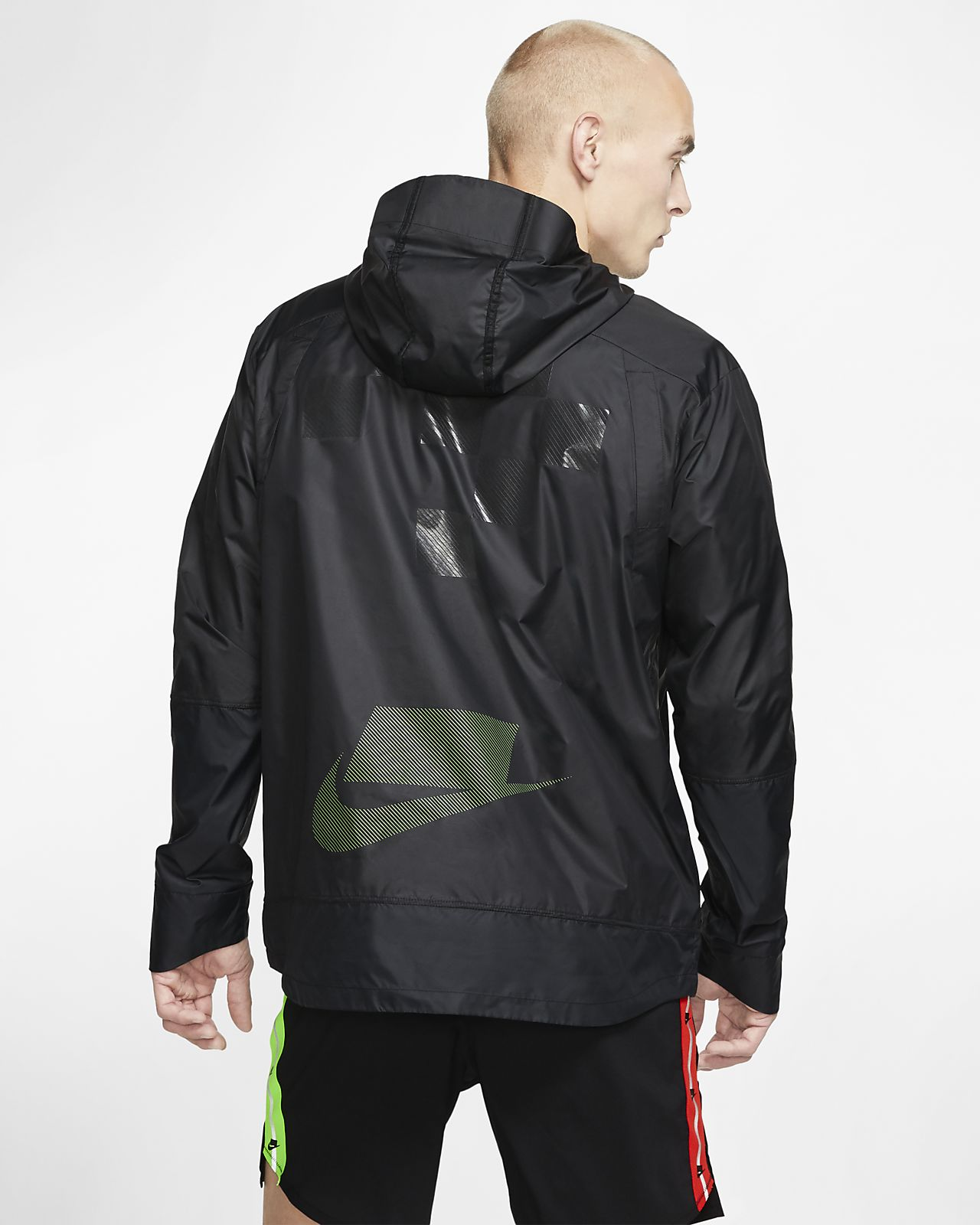 Reflective Nike Shield Flash Mens Running Jacket Sz Small