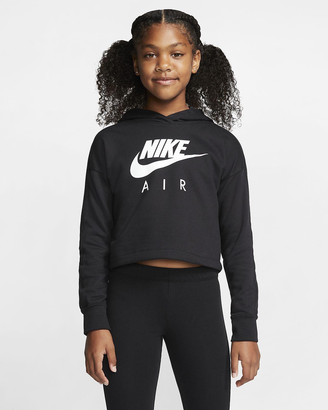 Hoodie recortado Nike Air Júnior (Rapariga)