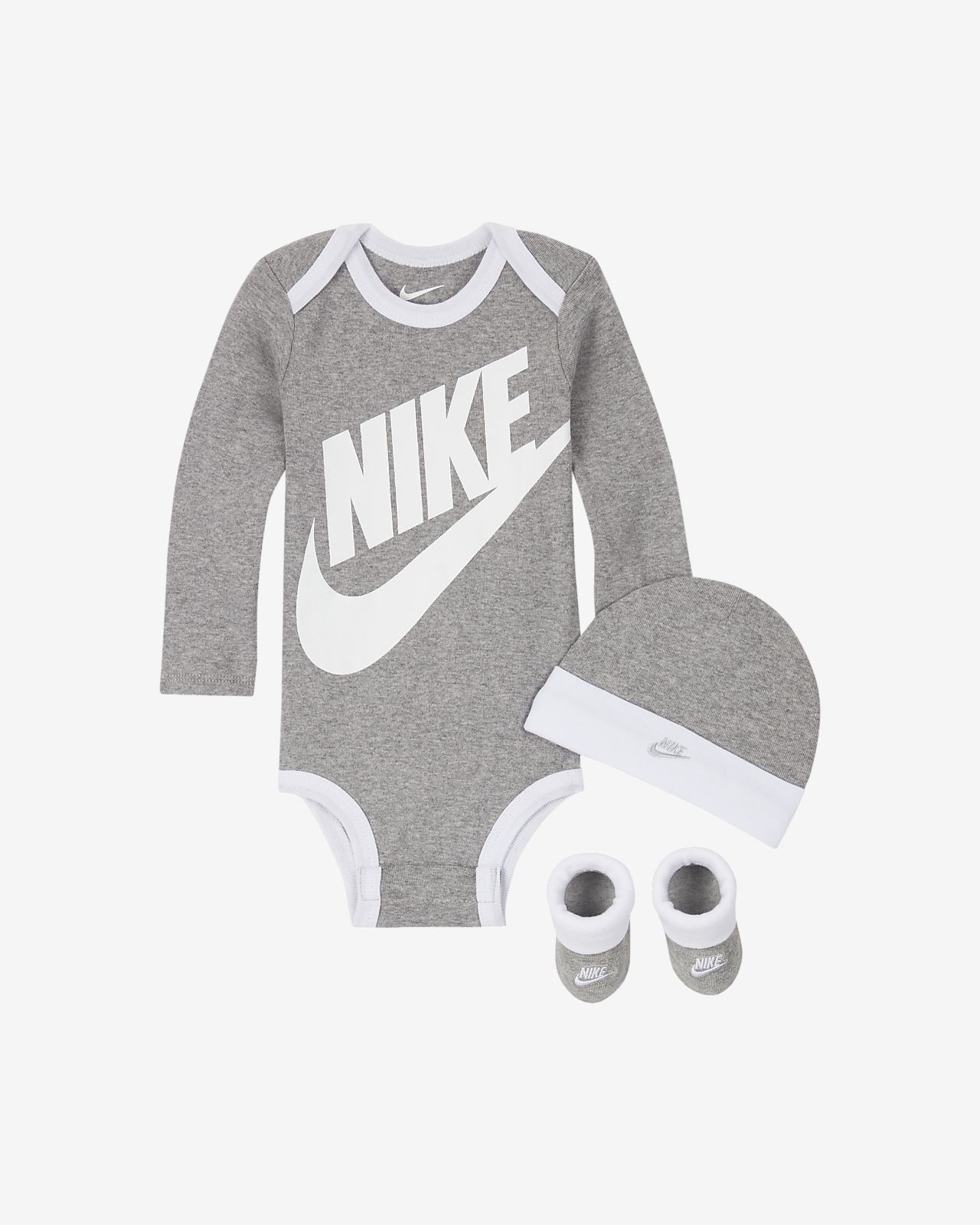 Conjunto de body, gorro y calzado para bebés Nike (6 a 12 meses)