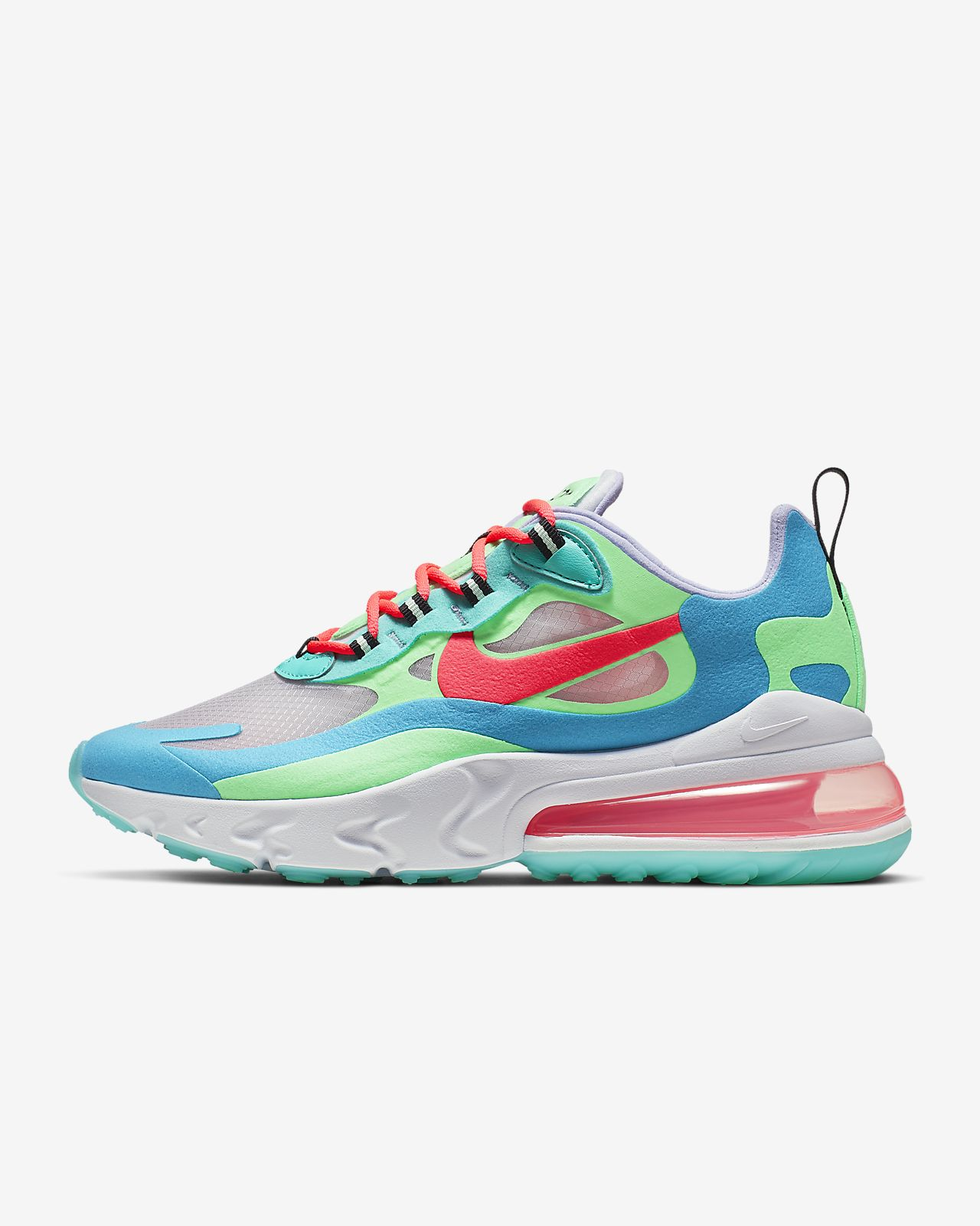 nike air max 270 react white pink blue