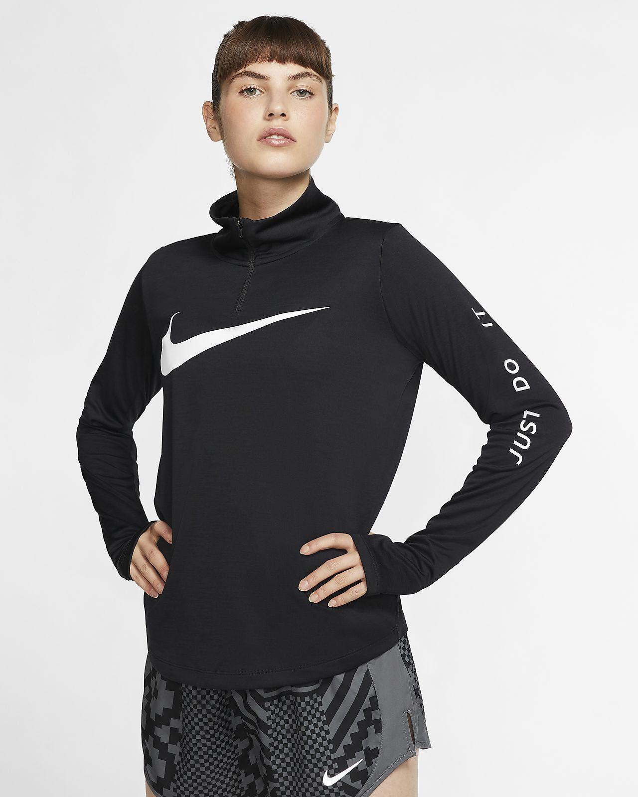 Nike Laufoberteil mit Viertelreißverschluss für Damen