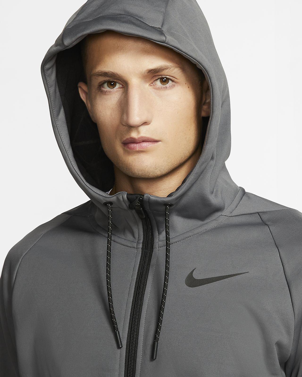 Blusão de treino com fecho completo e capuz Nike Therma para homem