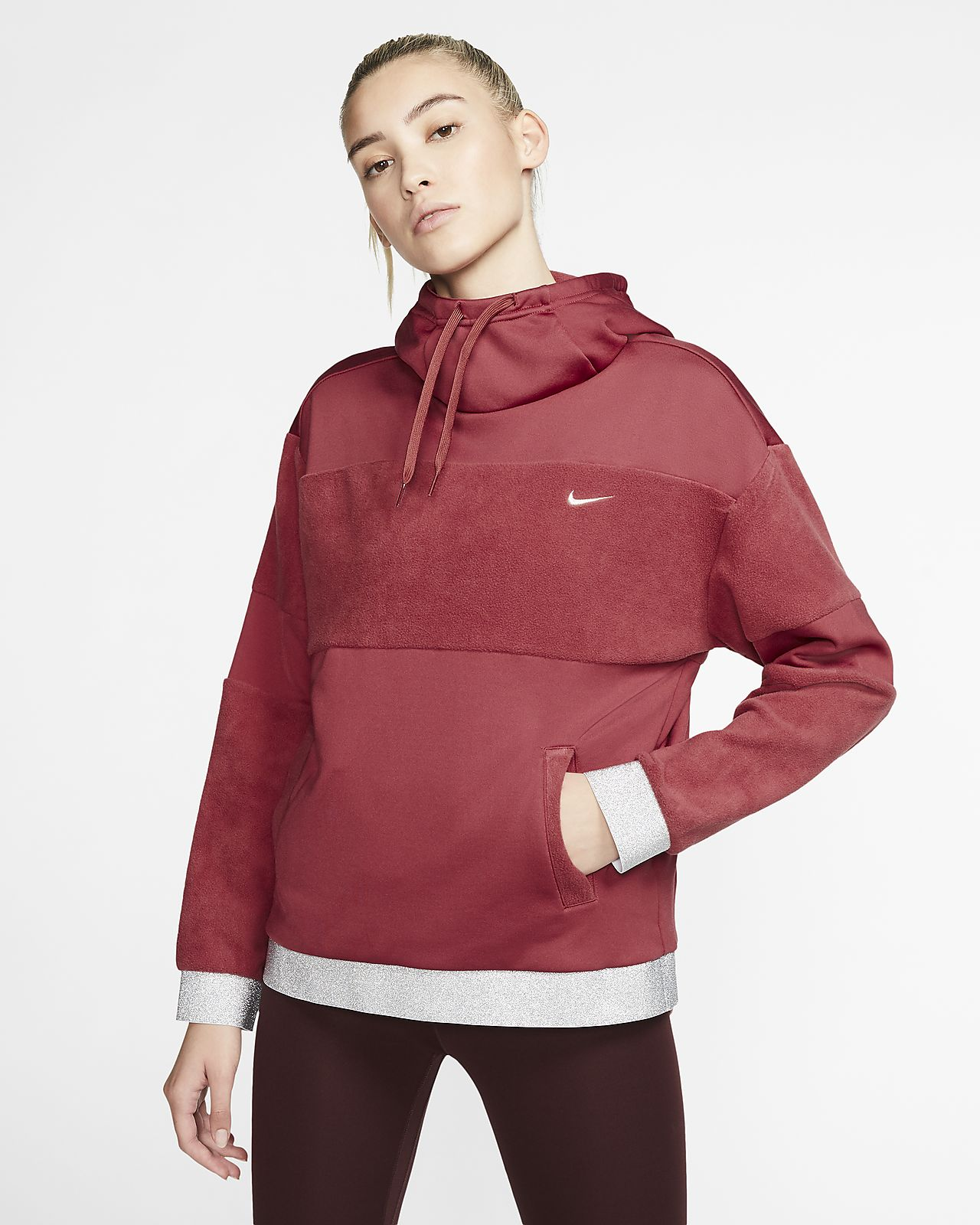 Nike Icon Clash Fleece-Trainings-Hoodie für Damen