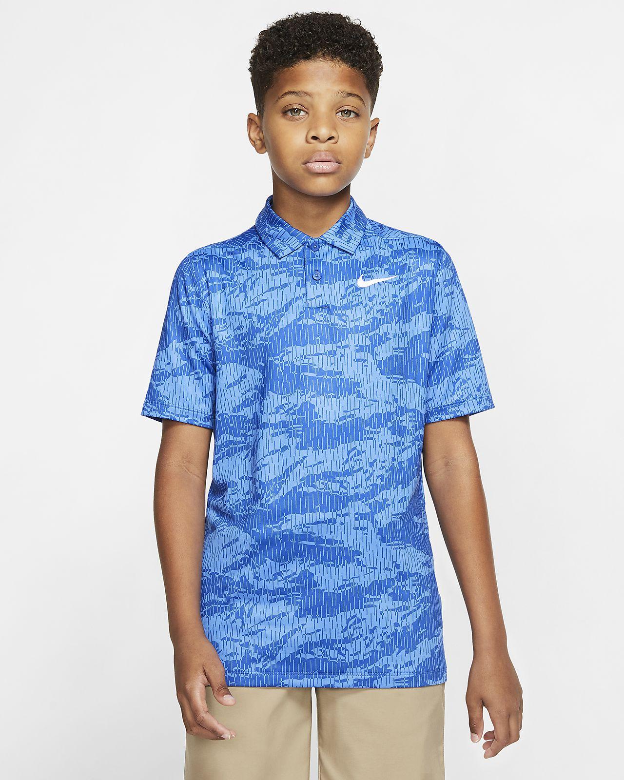 Nike Dri-FIT Golf-Poloshirt mit Print für Jungen