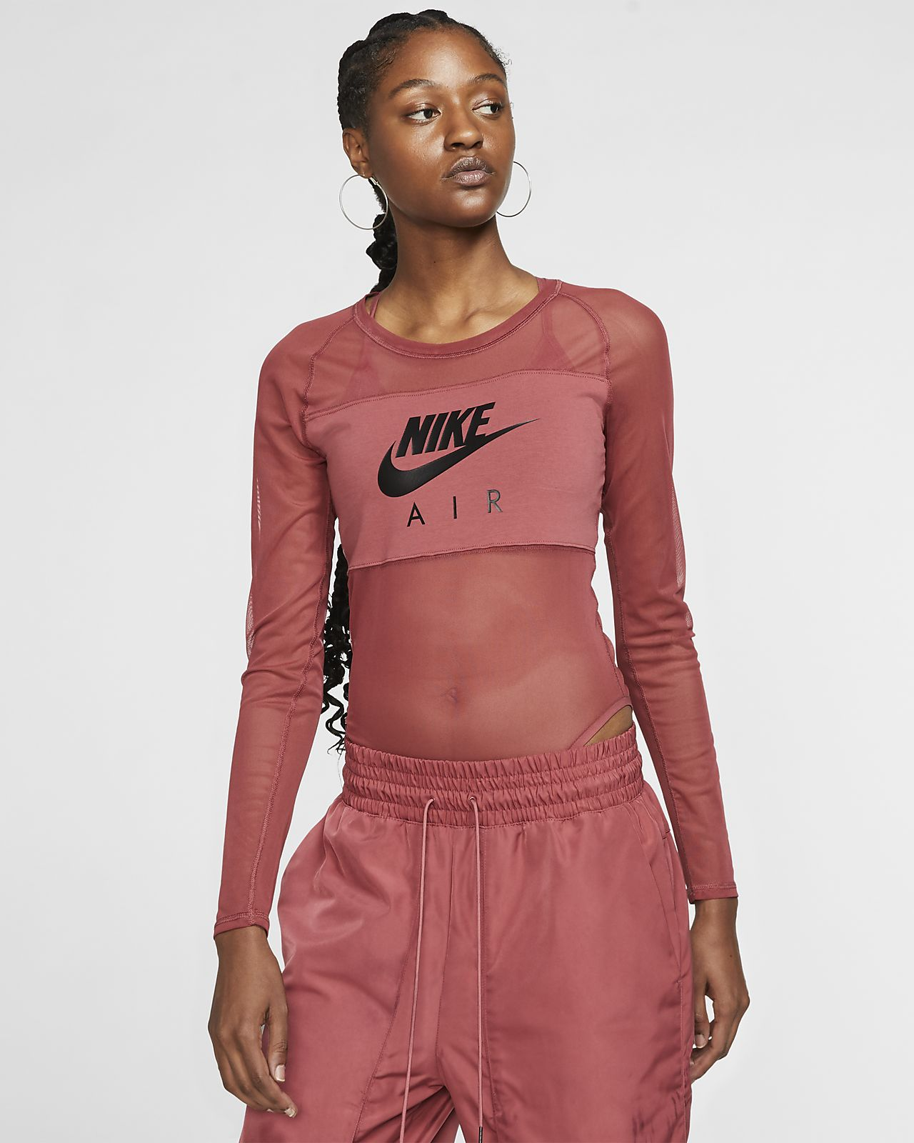 Nike Air black mesh bodysuit