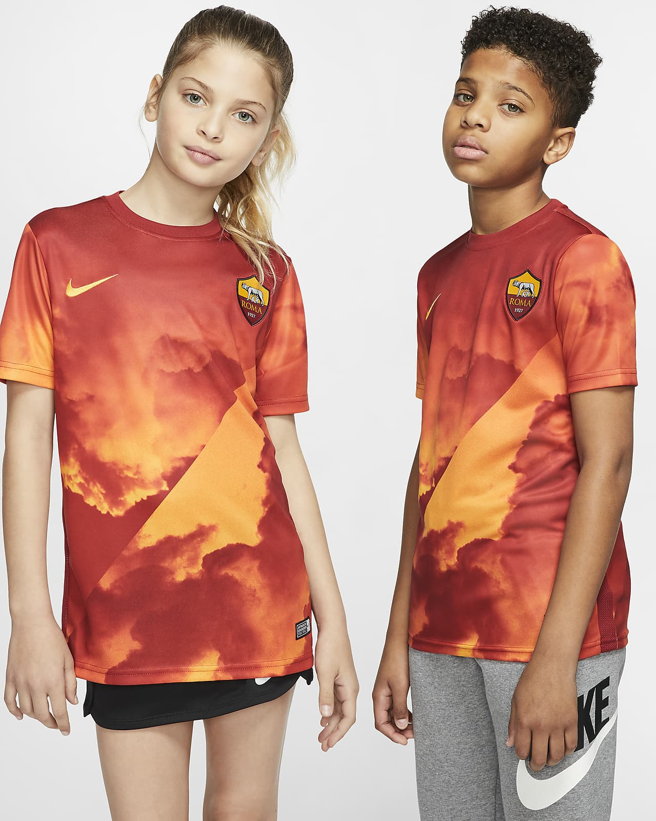 A.S. Roma Kids' Short-Sleeve Football Top