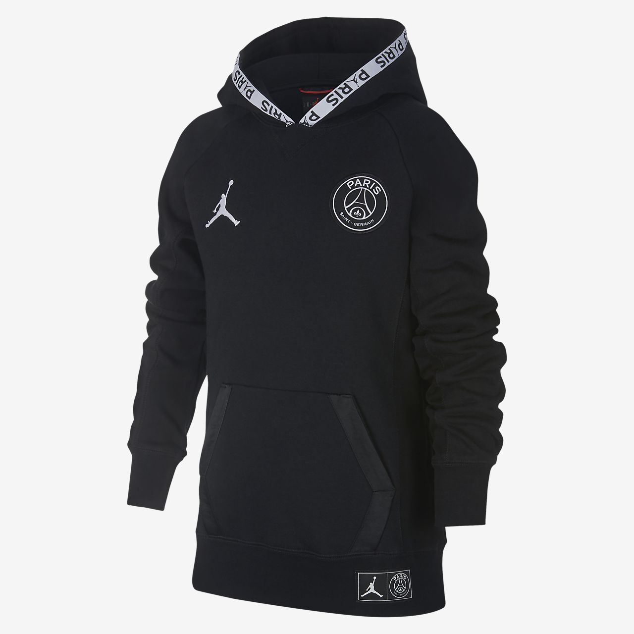 Nike Felpa Cappuccio Paris Saint Germain Black Cat Uomo Black