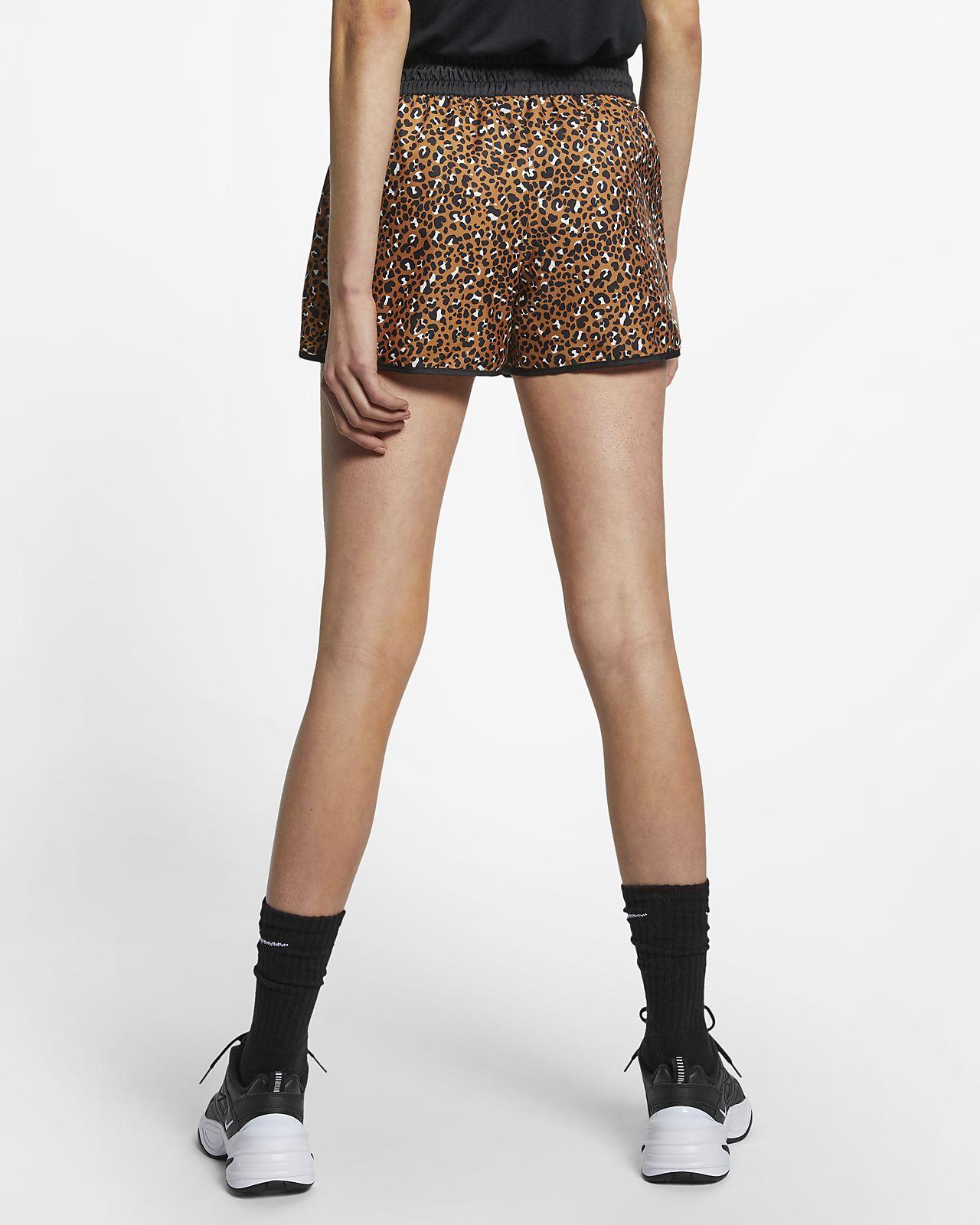 Nike Sportswear Animal Print vævede shorts til kvinder