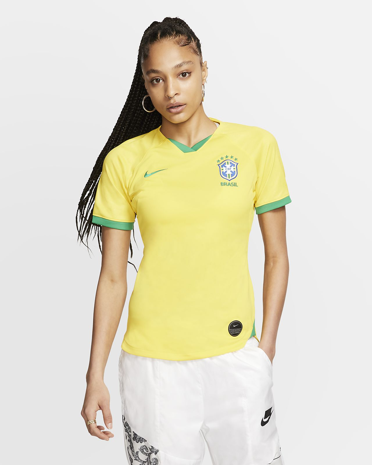 Maillot de football Brasil 2019 Stadium Home pour Femme