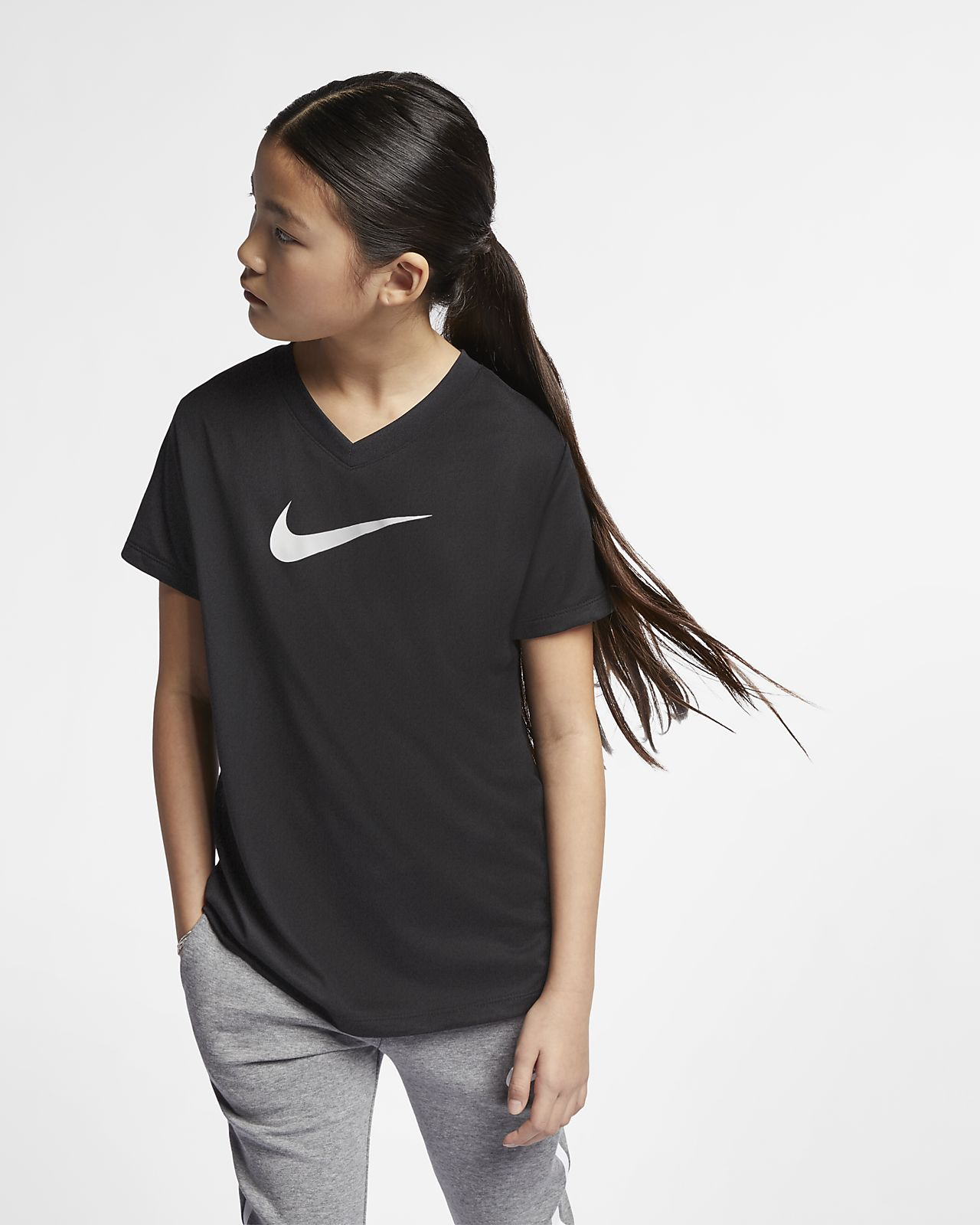 Nike Dri-FIT Older Kids' Swoosh Training T-Shirt